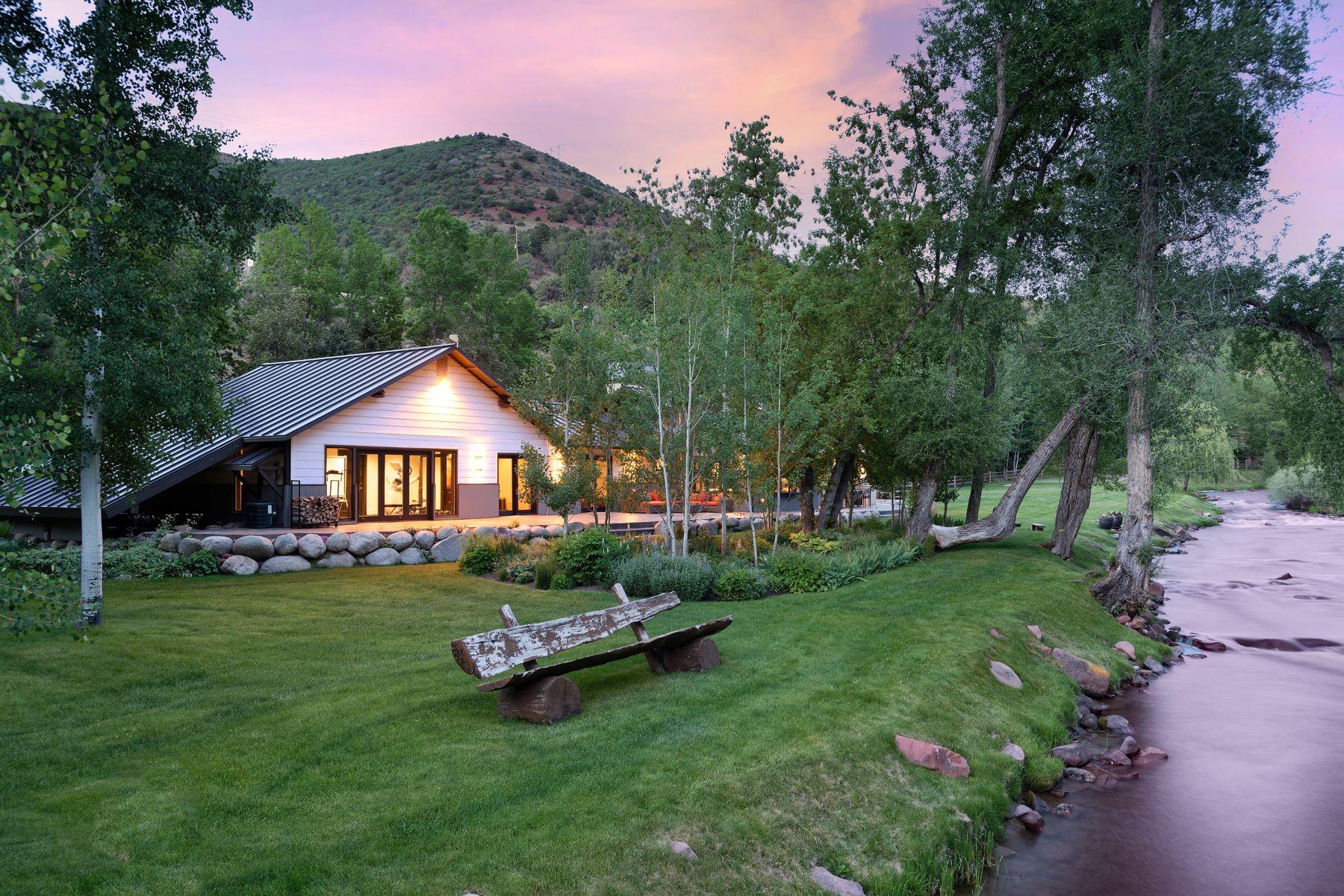 Single Family Homes для того Продажа на Starlight River Ranch 7800 Frying Pan Road, Basalt, Колорадо 81621 Соединенные Штаты