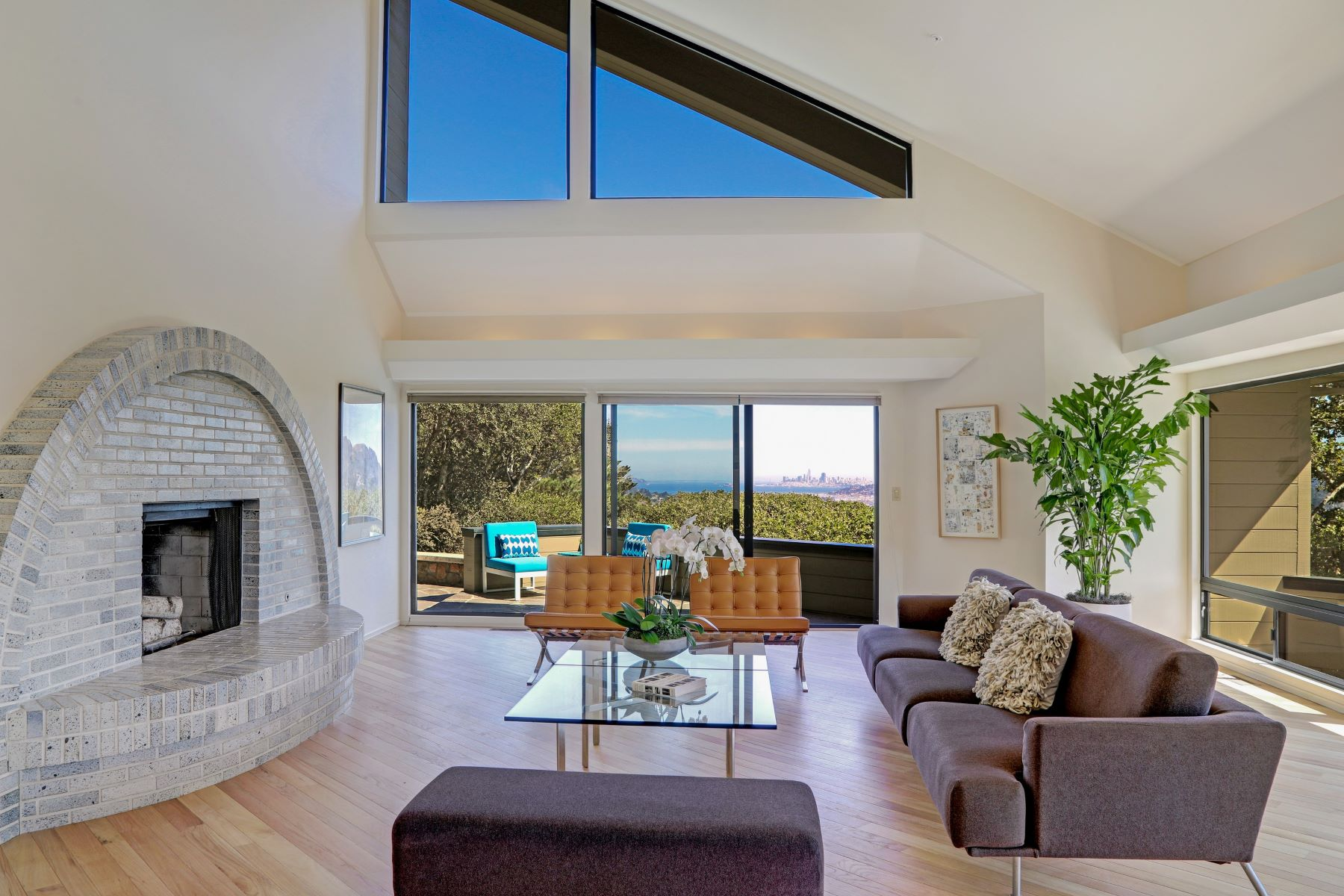 Single Family Homes for Sale at Dramatic Architectural Gem! 3 Greenwood Way Mill Valley, California 94941 United States