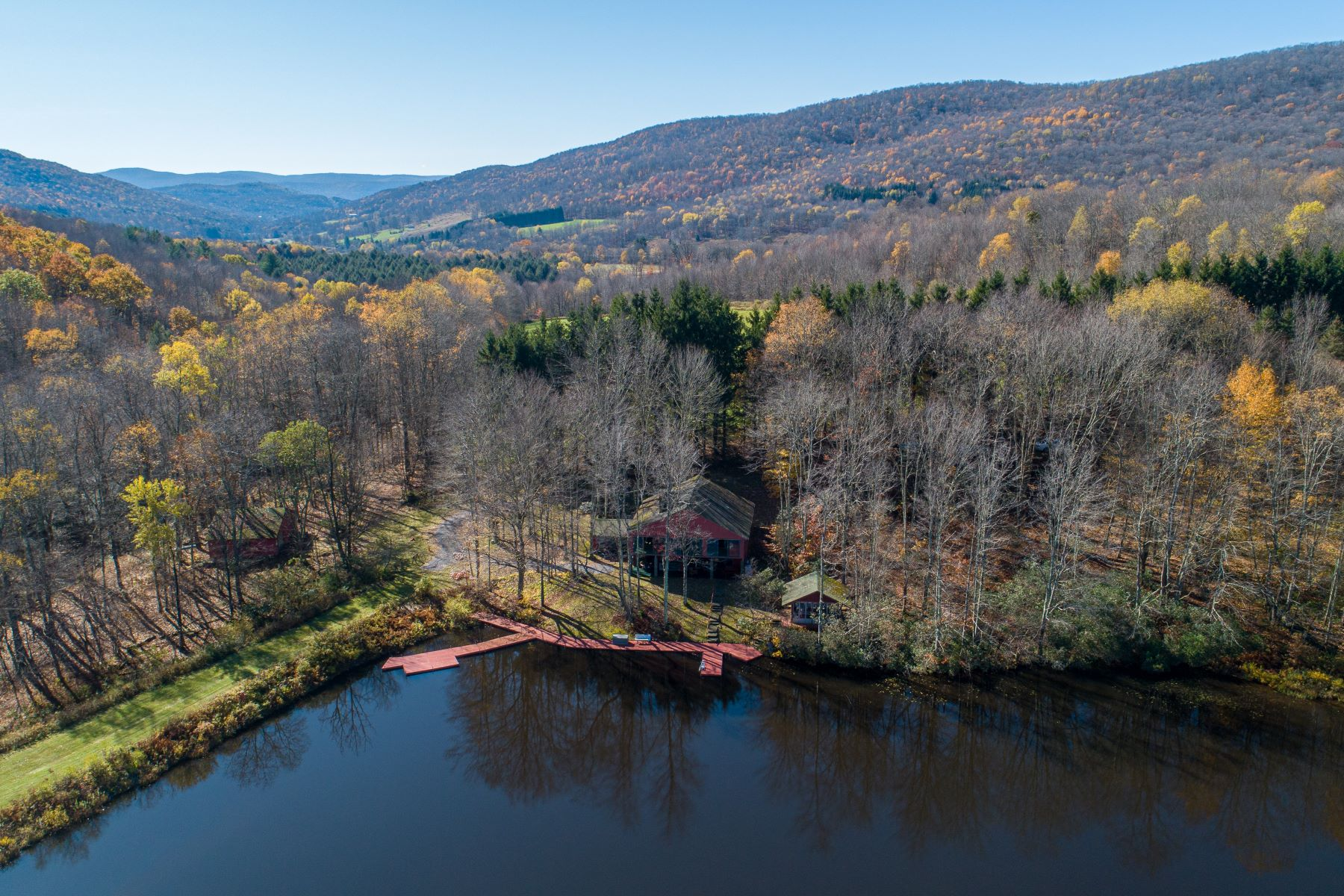 Single Family Homes for Sale at Reality Exceeds the Dreams on 17 Acre Private Lake 444 Skunk Hollow Road Andes, New York 13731 United States