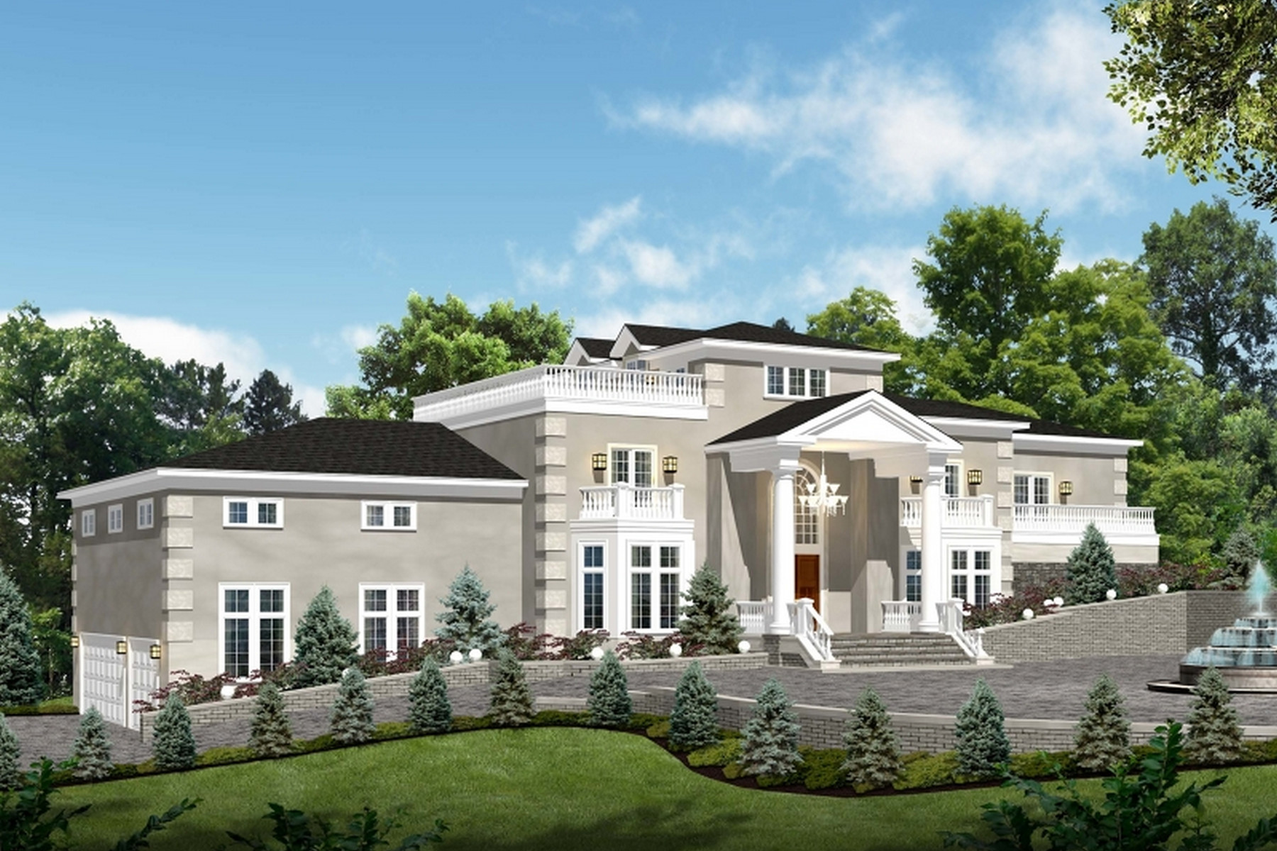 Single Family Homes pour l Vente à Masterful New Construction 57 Glen Avenue, West Orange, New Jersey 07052 États-Unis
