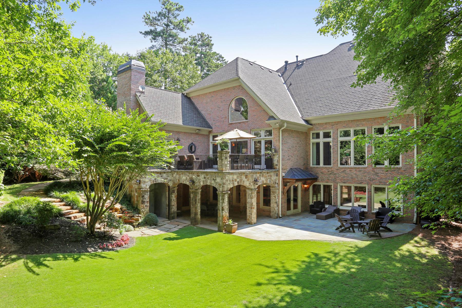 Maison unifamiliale pour l Vente à Exceptional Custom Built Country Club of the South Brick Estate Home 3977 Merriweather Woods Alpharetta, Georgia 30022 États-Unis