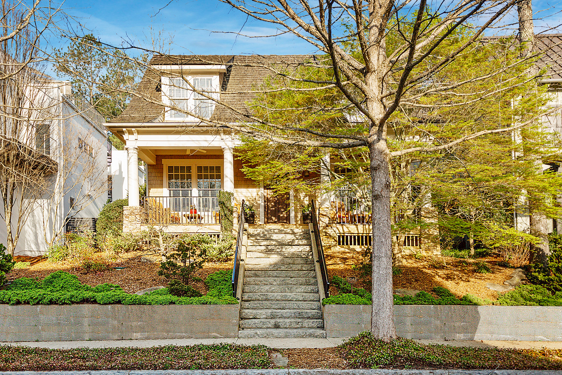 Single Family Homes for Sale at Craftsman Style Home in Original Section of Serenbe Community 9048 Selborne Lane Chattahoochee Hills, Georgia 30268 United States