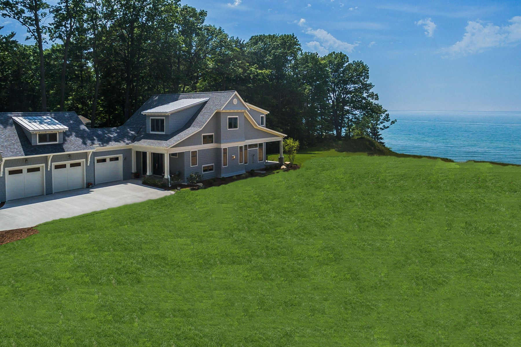 Otros residenciales por un Venta en Coastal Elegance On The Shore Of Lake Michigan 77277 South Beach Drive South Haven, Michigan, 49090 Estados Unidos