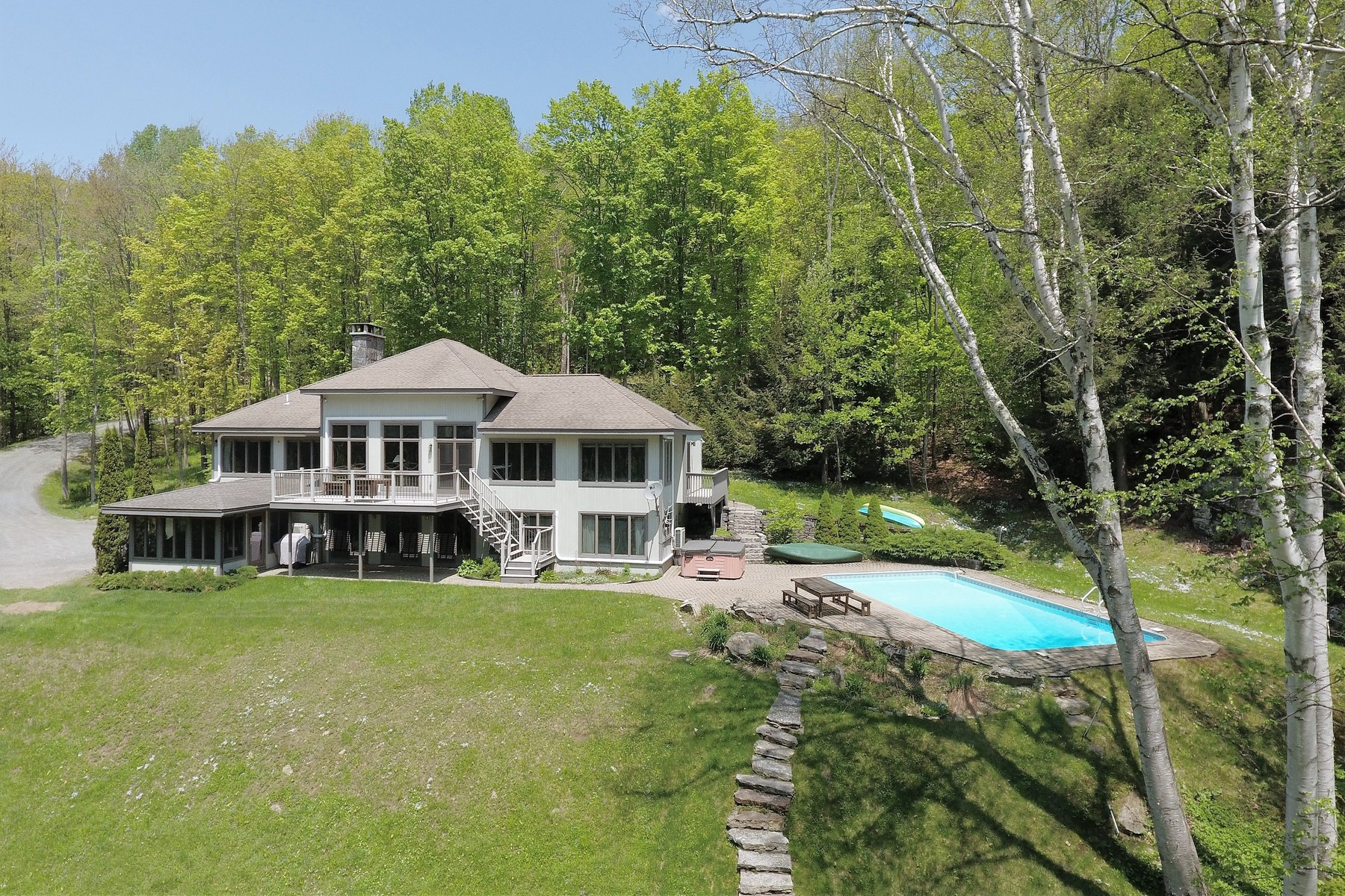 Single Family Homes for Sale at Elegant Lakeside Retreat 42 Scout Dr Wilmington, Vermont 05363 United States