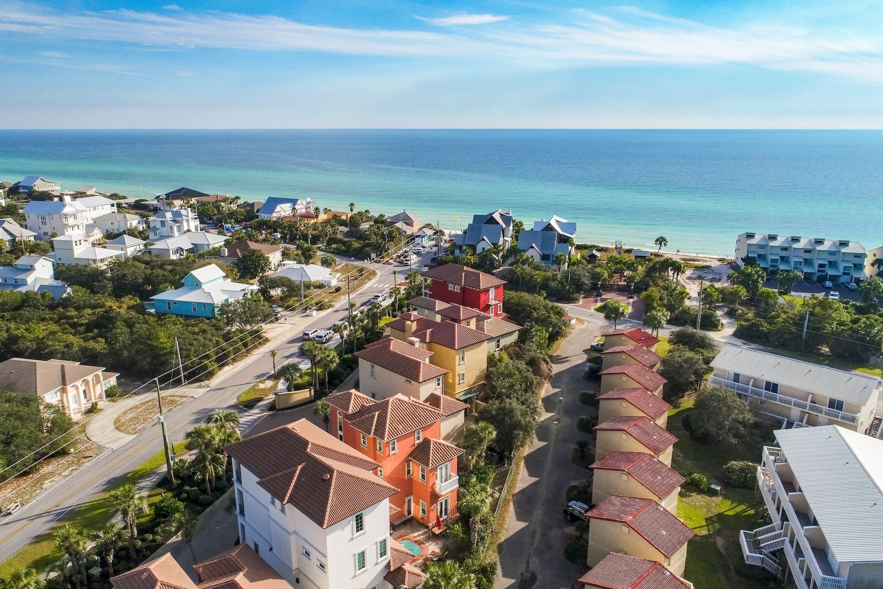 Частный односемейный дом для того Продажа на Mediterranean Style Home a Short Walk to the Beach 2196 S Hwy 83, Santa Rosa Beach, Флорида, 32459 Соединенные Штаты