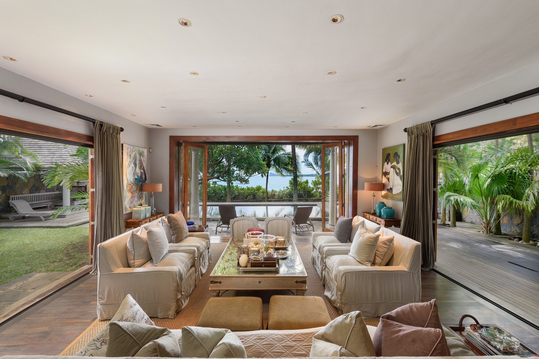 "Additional photo for property listing at Waterfront Colonial Villa overlooking ""Coin de Mire"" Grand Baie, Riviere Du Rempart Mauritius"