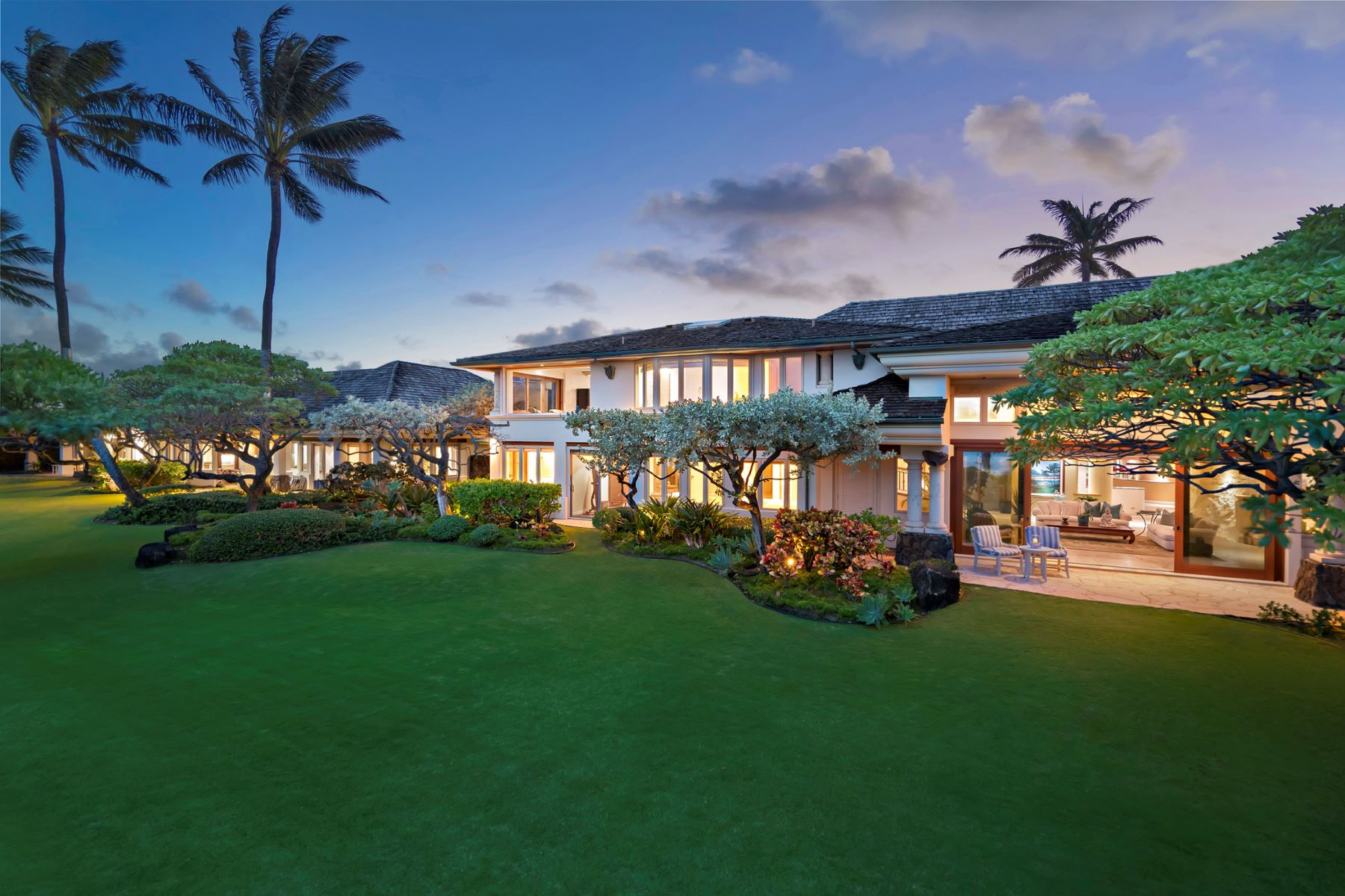 "Single Family Home for Active at Kai Moena ""House of the Resting Sea"", Ocean Front, Beach Front 145 Kailuana Loop Kailua, Hawaii 96734 United States"