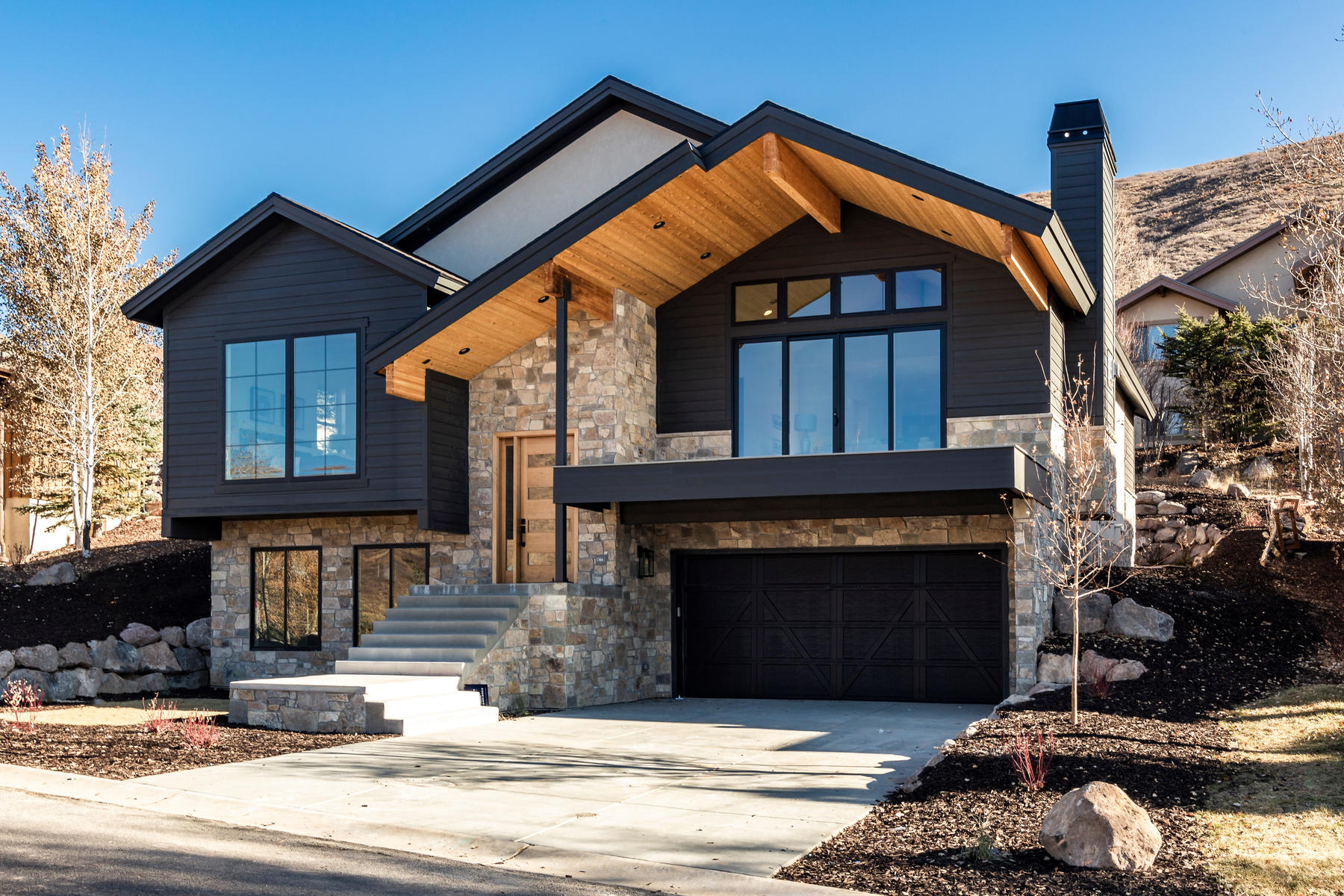 Single Family Homes for Sale at Scandinavian Inspired Modern New Construction with Sweeping Jordanelle Views 12328 N Ross Creek Drive, Kamas, Utah 84036 United States