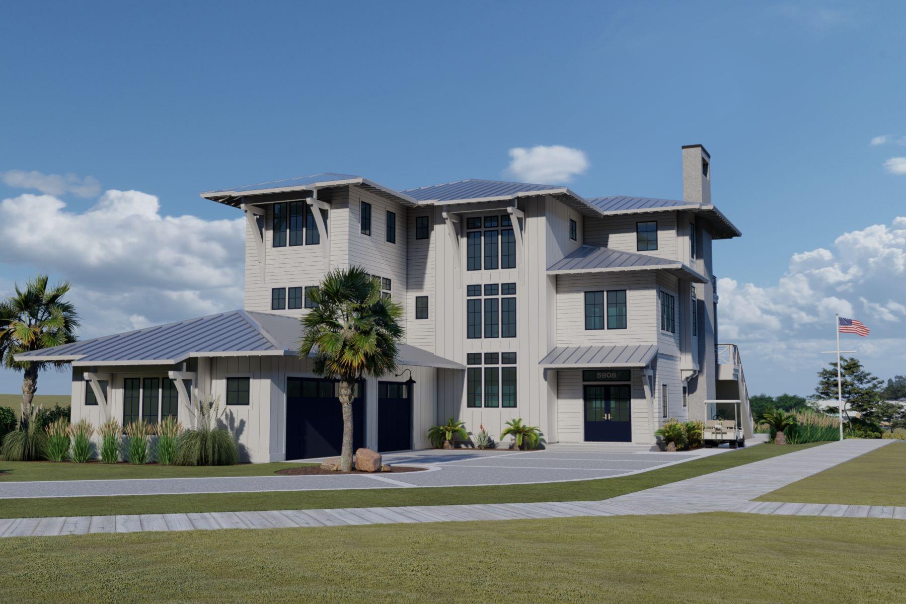 Single Family Homes для того Продажа на Waterfront Proposed design+build 5908 Nautical Isle Court Wilmington, Северная Каролина 28409 Соединенные Штаты