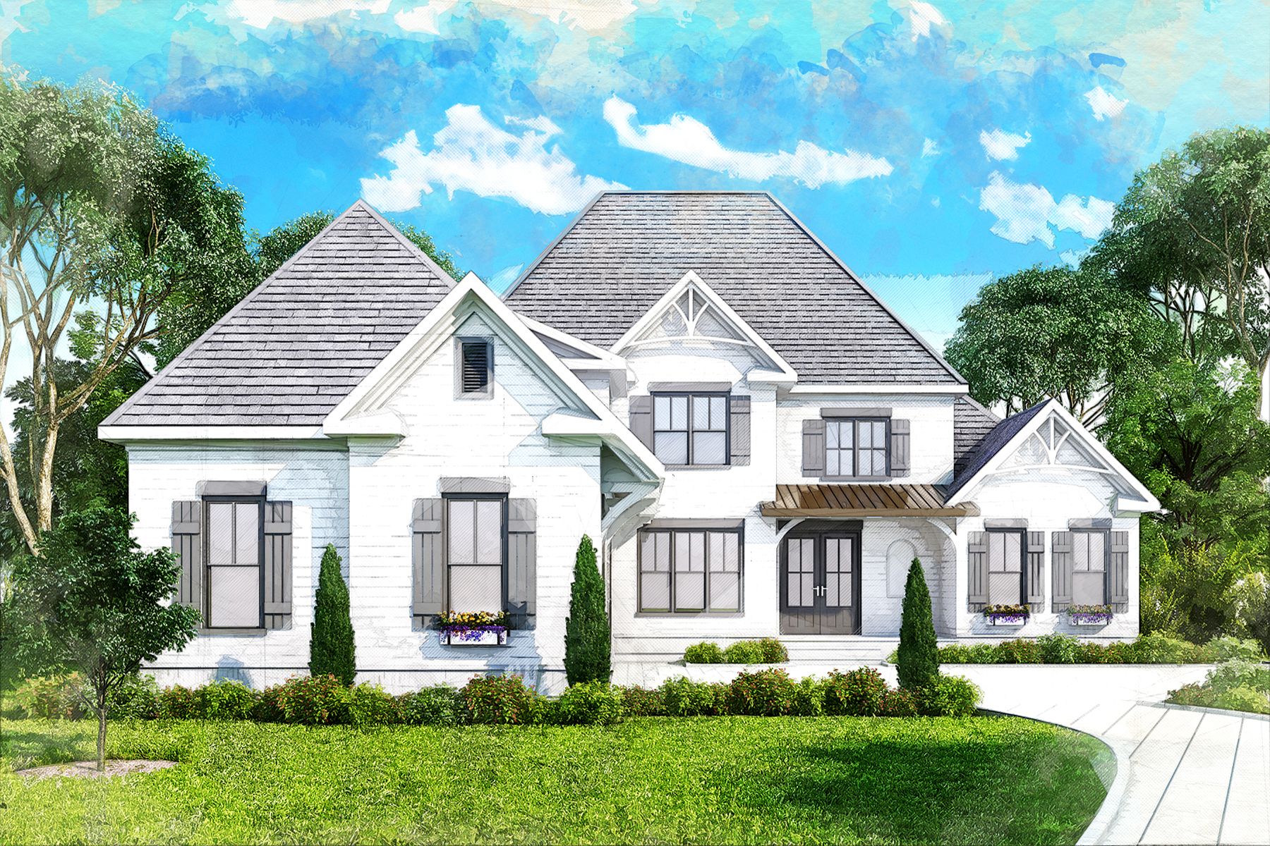 Property для того Продажа на The Manor Cottages 3530 Watsons Bend, Alpharetta, Джорджия 30004 Соединенные Штаты