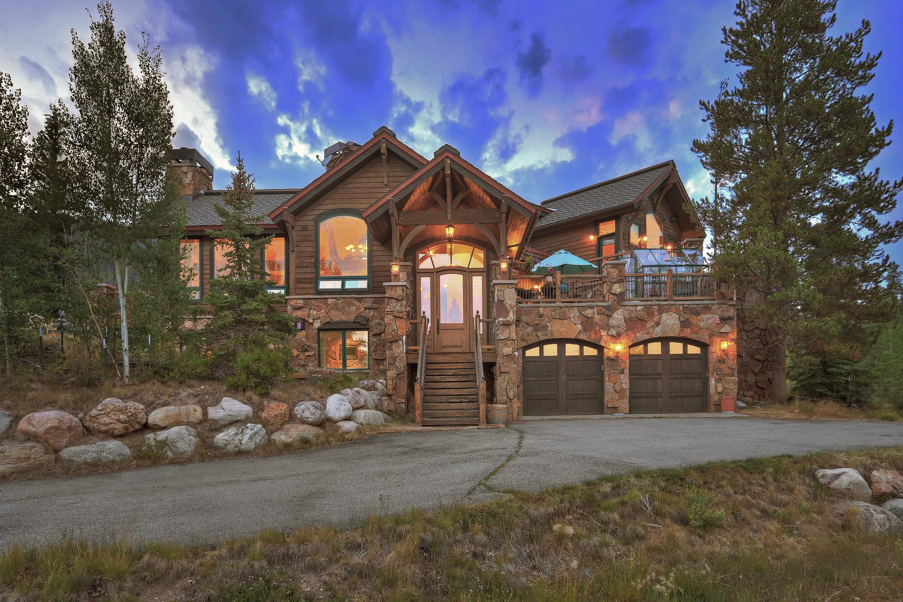 Single Family Home for Active at Character Rich Custom Home on One Acre 95 Silver Dollar Drive Breckenridge, Colorado 80424 United States