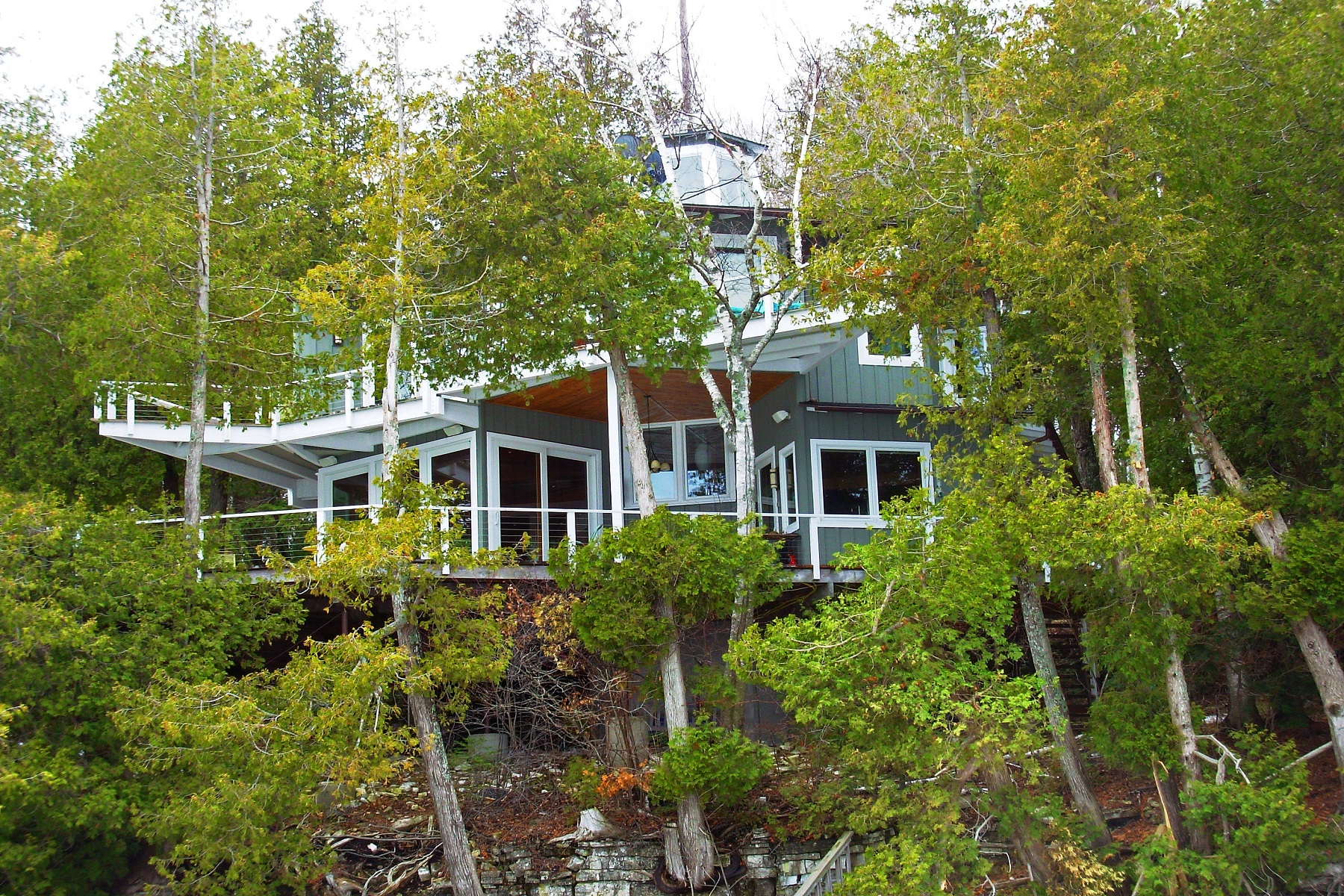 Single Family Homes for Sale at Door County Lakefront Gem 12676 Door Bluff Park Road Ellison Bay, Wisconsin 54210 United States