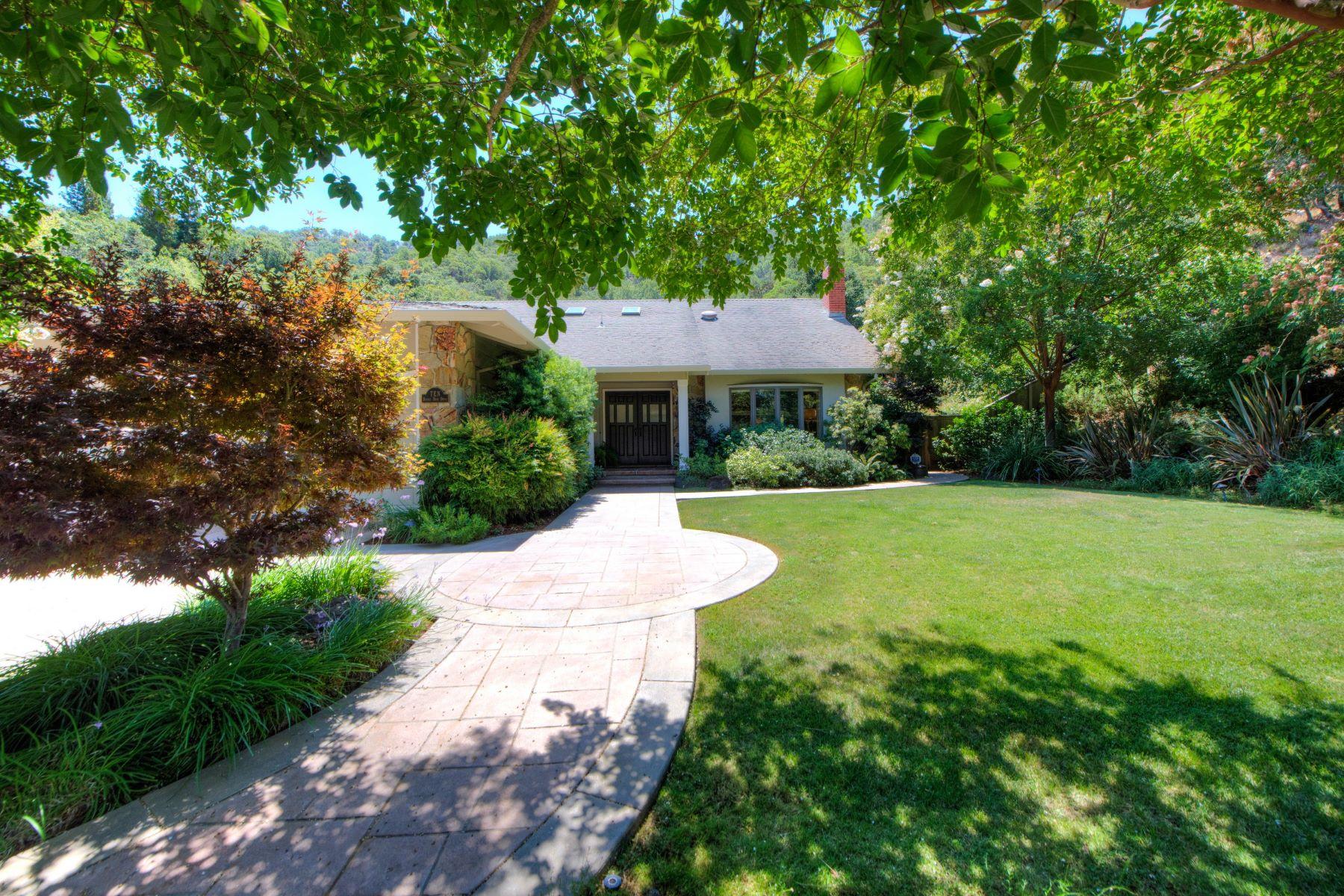 Частный односемейный дом для того Продажа на Spectacular Executive Style Home in Marin Country Club 10 Bonnie Brae Drive Novato, Калифорния 94949 Соединенные Штаты