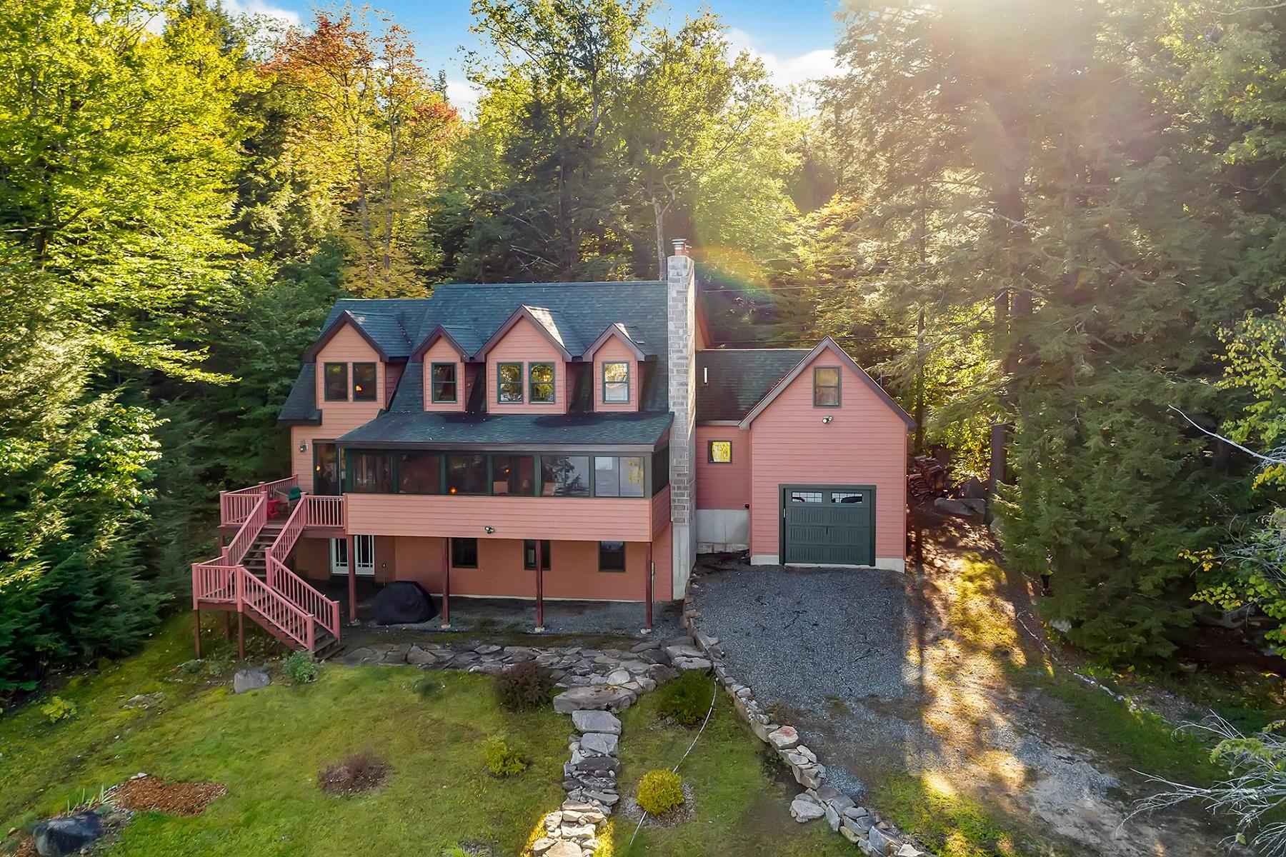 Single Family Homes for Sale at Custom Lake Winnipesaukee Home 48 Frye Road Moultonborough, New Hampshire 03254 United States