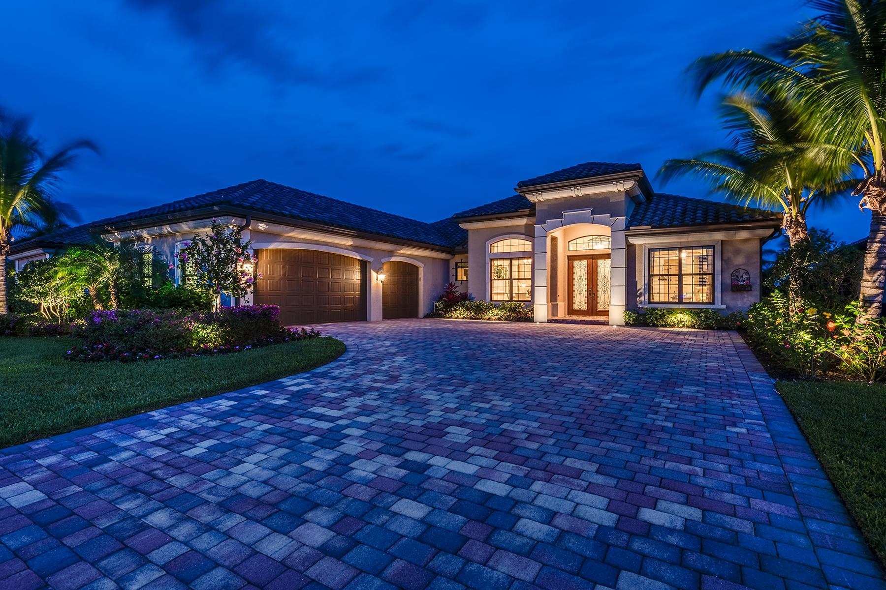 Single Family Homes por un Venta en FIDDLER'S CREEK 3316 Runaway Lane Nápoles, Florida 34114 Estados Unidos