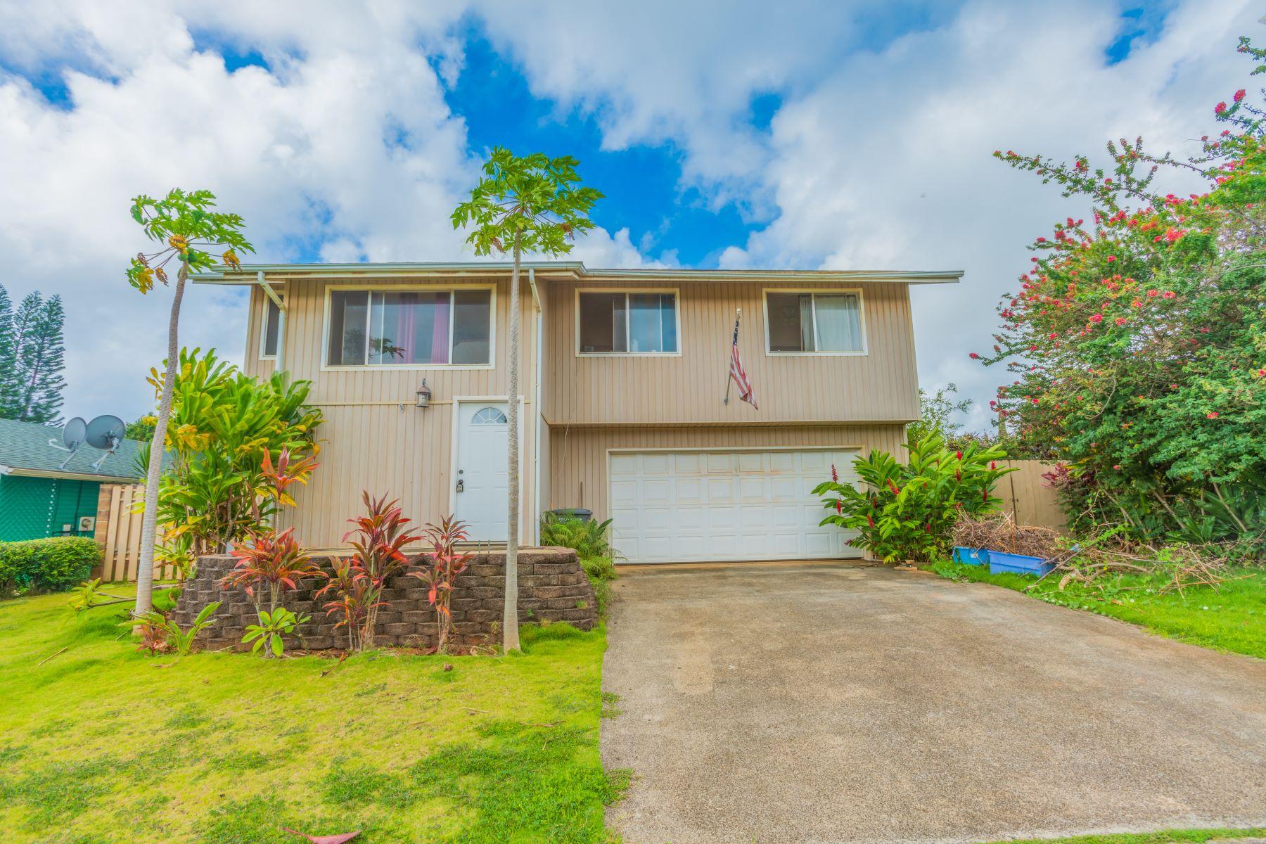 獨棟家庭住宅 為 出售 在 5407 Olopua St. 5407 Olopua Street Kapaa, 夏威夷 96746 美國