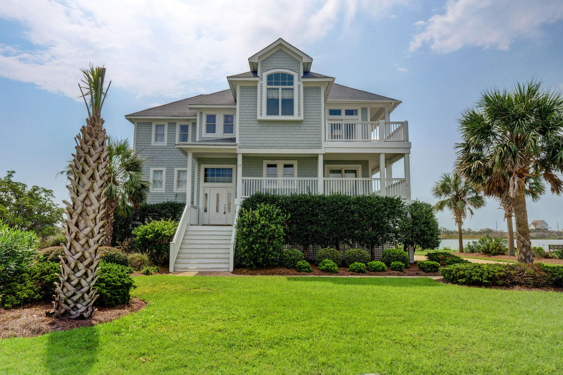 Single Family Homes for Active at Stunning Water Front Home 17 Sailview Drive N Topsail Beach, North Carolina 28460 United States