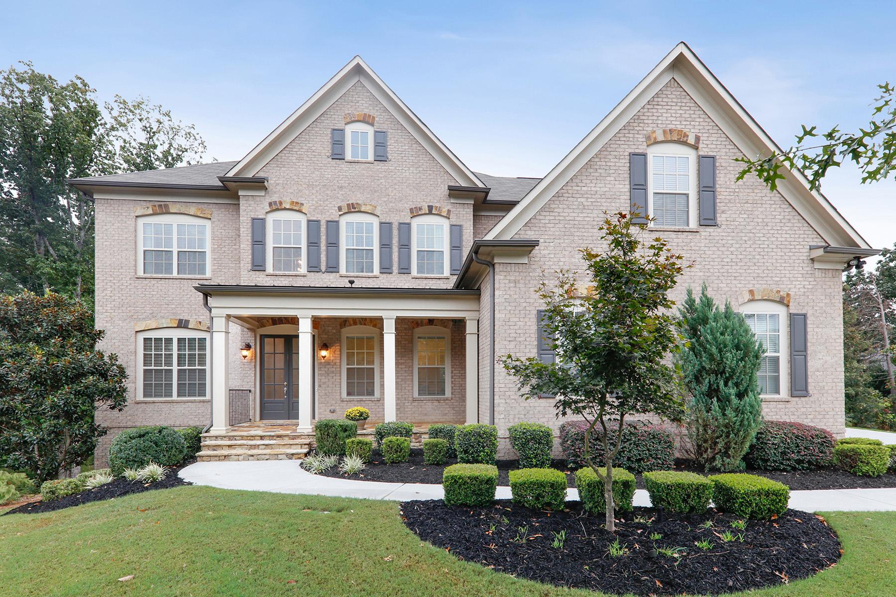 Single Family Homes for Sale at Beautiful Brick Executive Home on Private Cul-de-sac 1614 Newstone St, Lawrenceville, Georgia 30043 United States