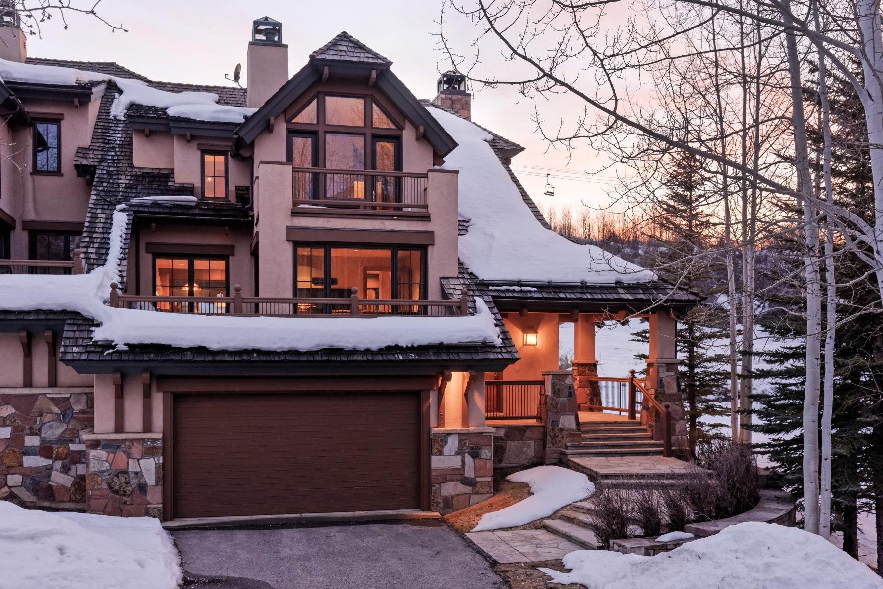 Maison accolée pour l Vente à Owl Creek Home #407 407 Burnt Mountain Drive Snowmass Village, Colorado, 81615 États-Unis