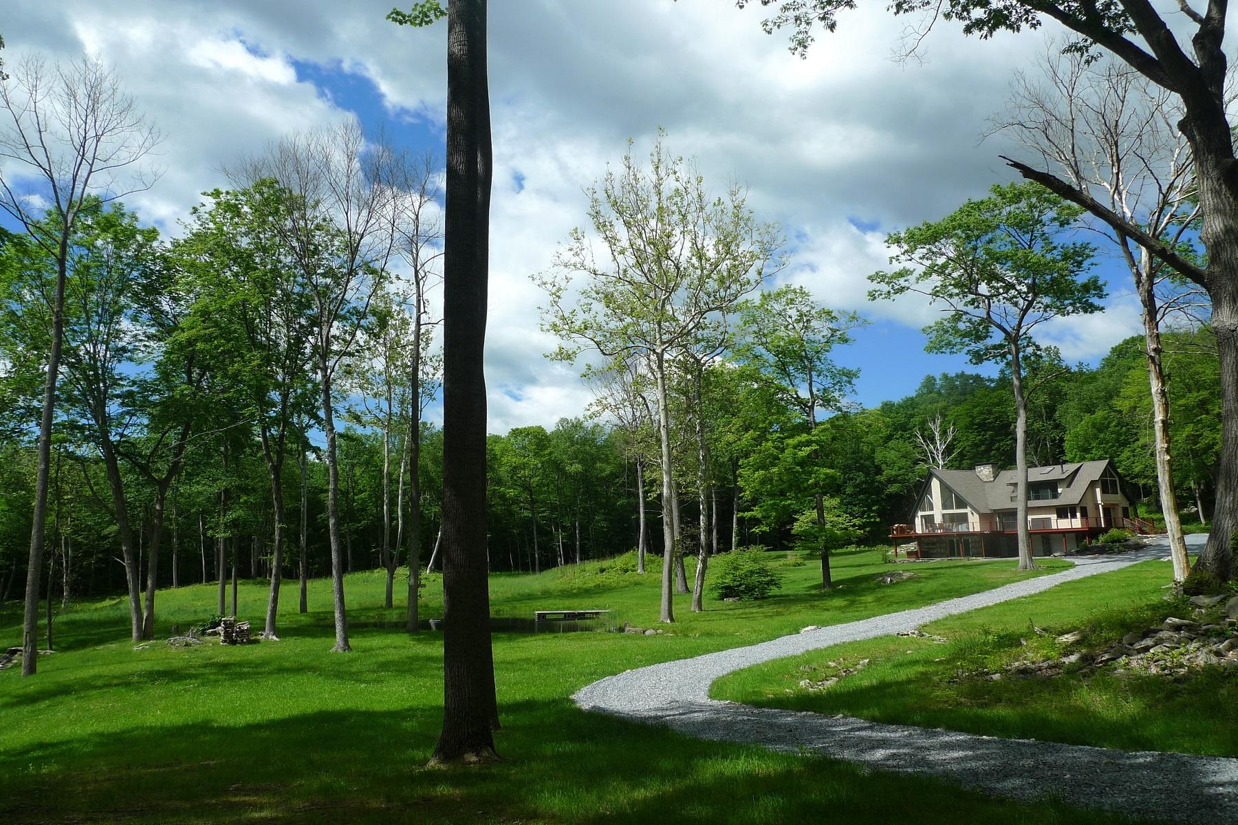 Частный односемейный дом для того Продажа на Handsome Modern Country Home in Park-like Setting 147 Willow Lane Clinton Corners, Нью-Йорк 12514 Соединенные Штаты