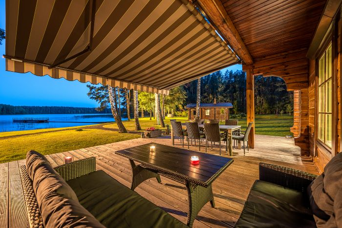 Unique Homestead on the Shore of Lake Baltieji Lakajai