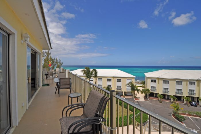 Columbus Cove Penthouse with views of the turquiose Atlantic Ocean