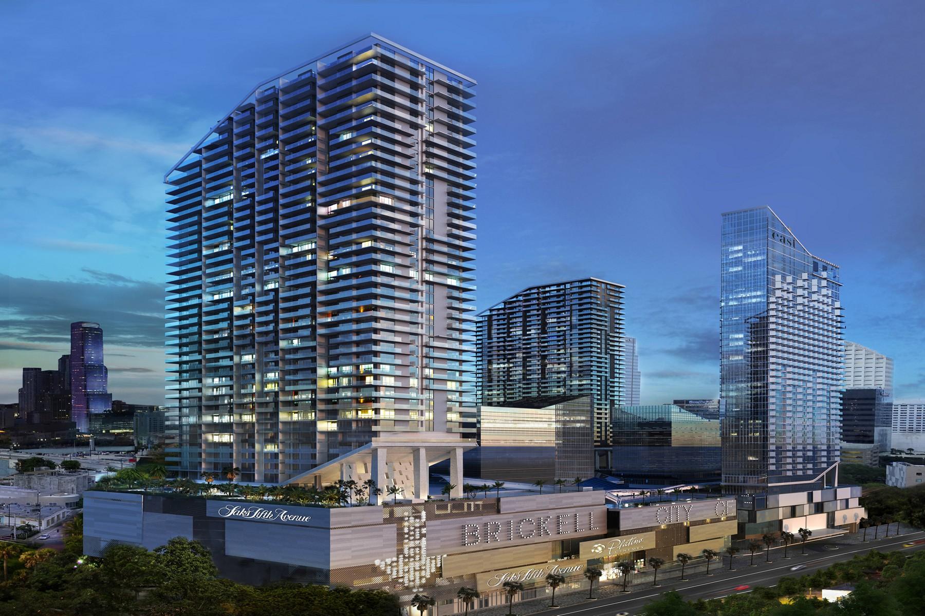 共管式独立产权公寓 为 销售 在 88 SW 7 ST#3502 88 Sw 7 Street 3502 迈阿密, 佛罗里达州, 33131 美国