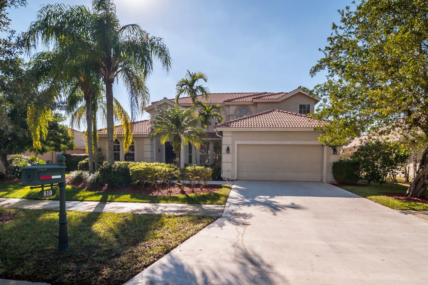 Частный односемейный дом для того Продажа на 810 Bayside Ln Weston, Флорида, 33326 Соединенные Штаты