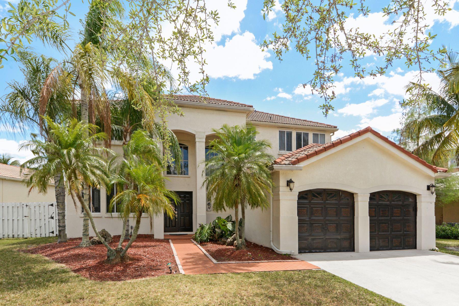 Частный односемейный дом для того Продажа на 843 Heritage Dr Weston, Флорида, 33326 Соединенные Штаты