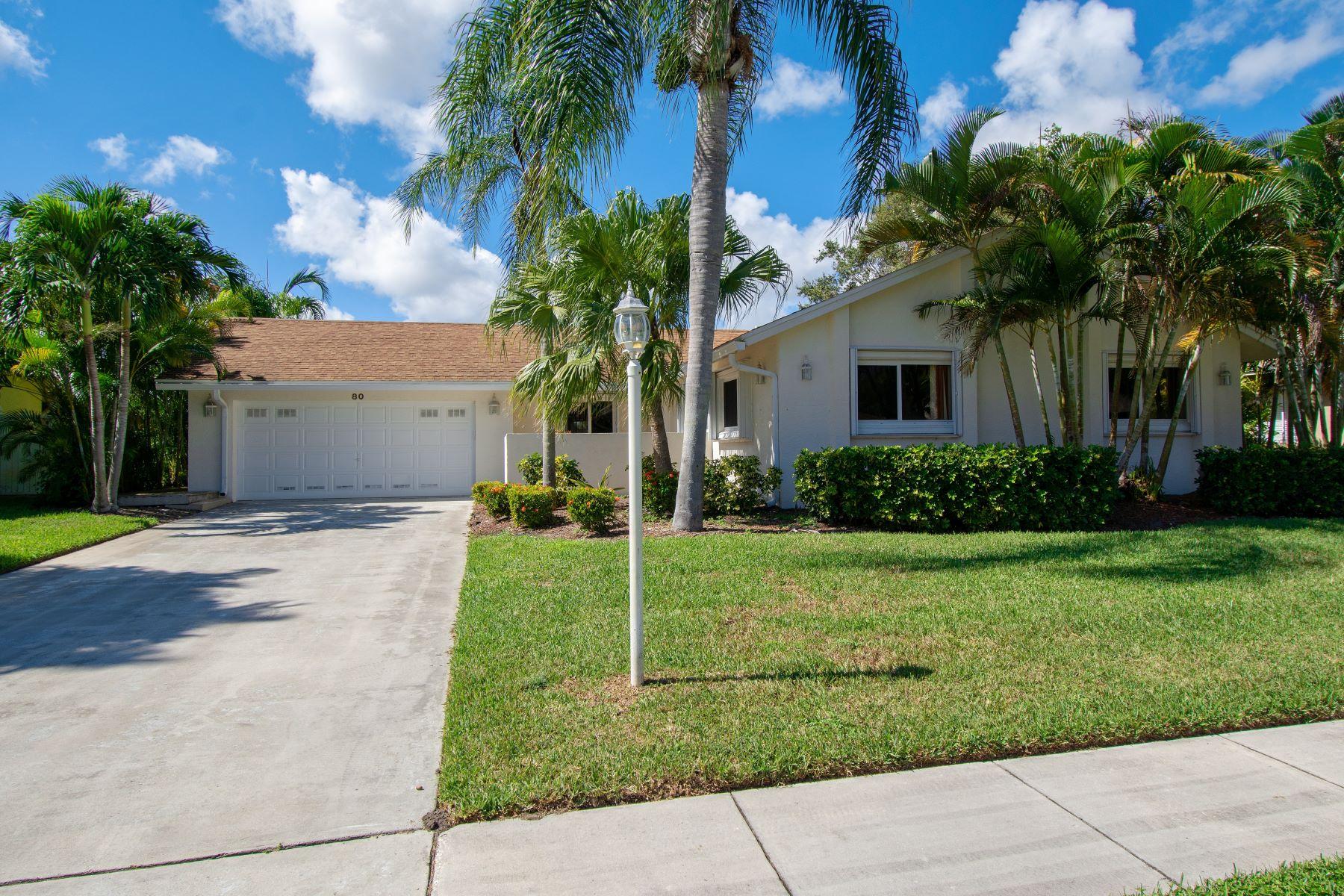 Частный односемейный дом для того Продажа на 80 Vista Del Rio 80 Vista Del Rio Boynton Beach, Флорида 33426 Соединенные Штаты