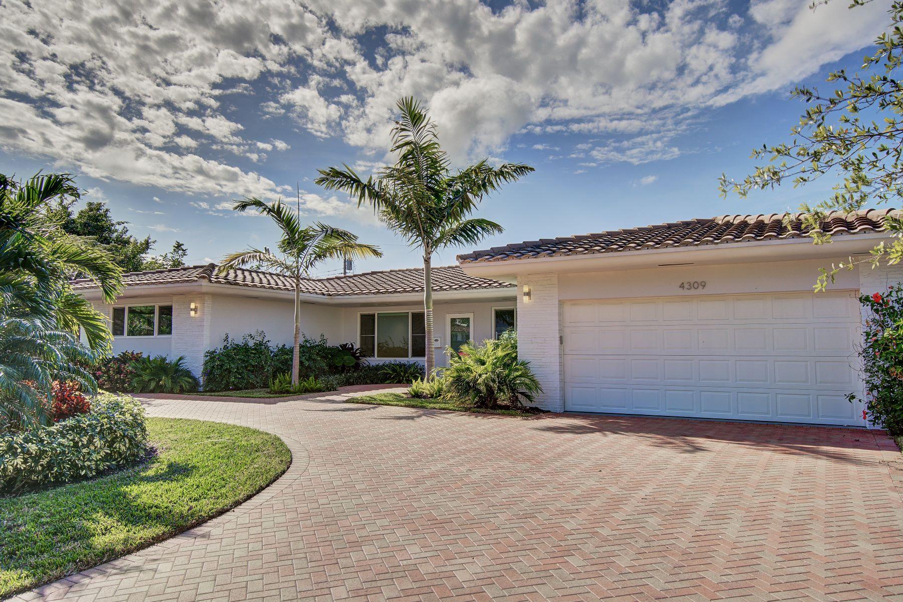 独户住宅 为 销售 在 4309 Ne 22nd Ave 劳德代尔堡, 佛罗里达州, 33308 美国