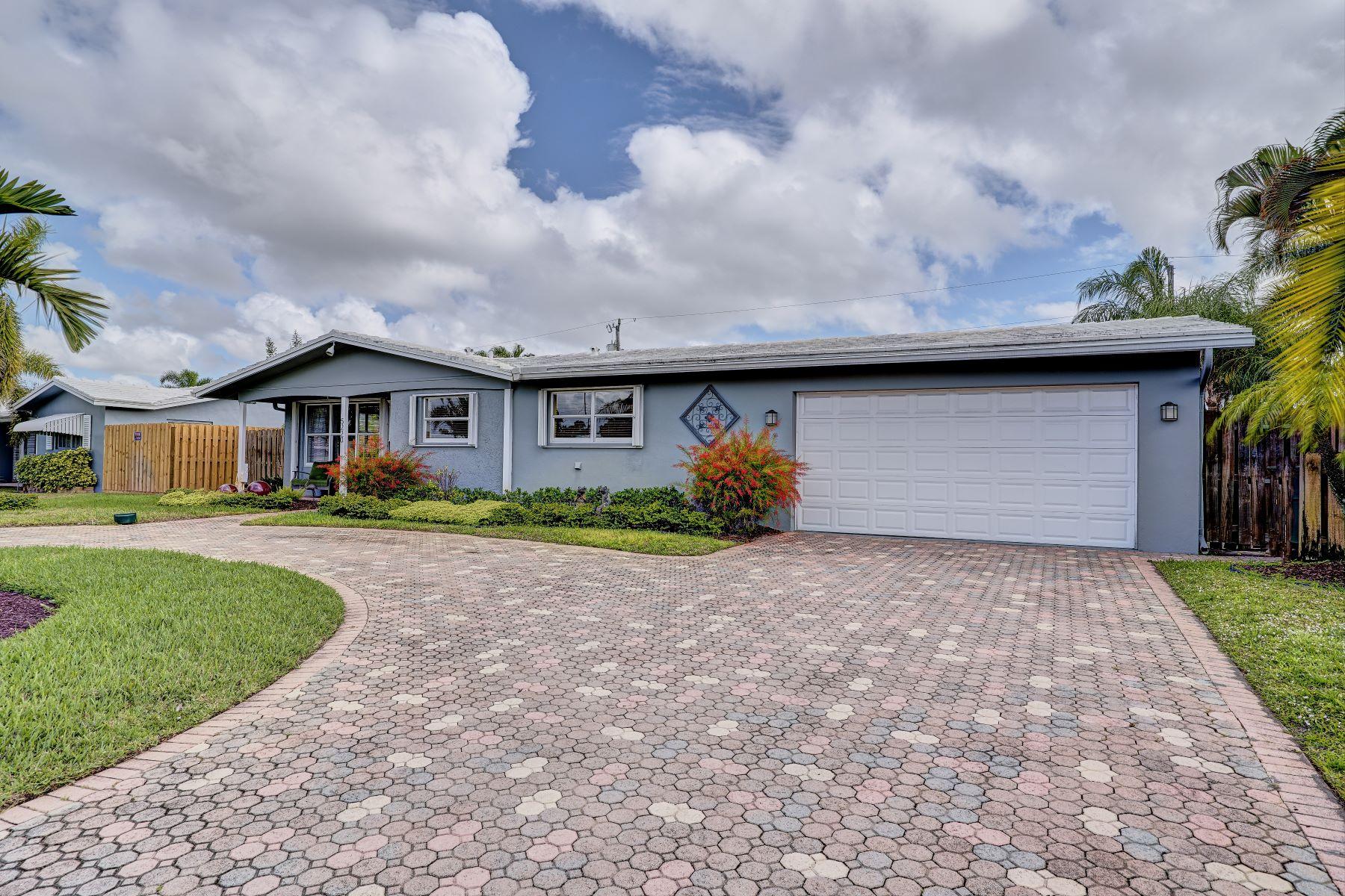 独户住宅 为 销售 在 5220 Ne 17th Ave 劳德代尔堡, 佛罗里达州, 33334 美国