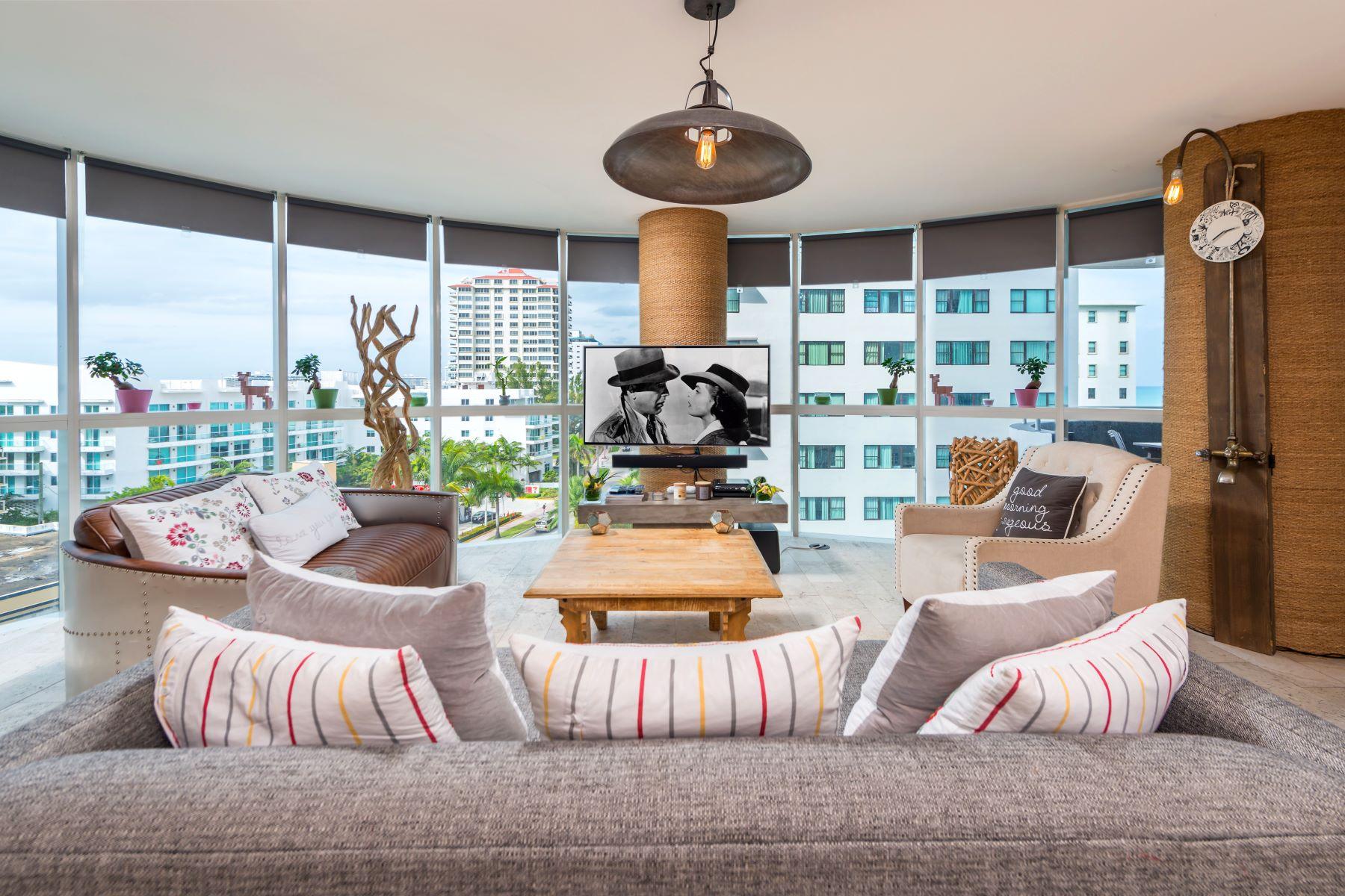 共管式独立产权公寓 为 销售 在 6301 Collins Ave #807 6301 Collins Ave 807 迈阿密海滩, 佛罗里达州, 33141 美国