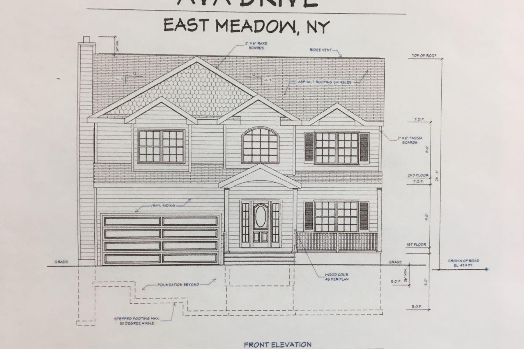 Casa para uma família para Venda às Colonial 244 Ava Dr East Meadow, Nova York, 11554 Estados Unidos