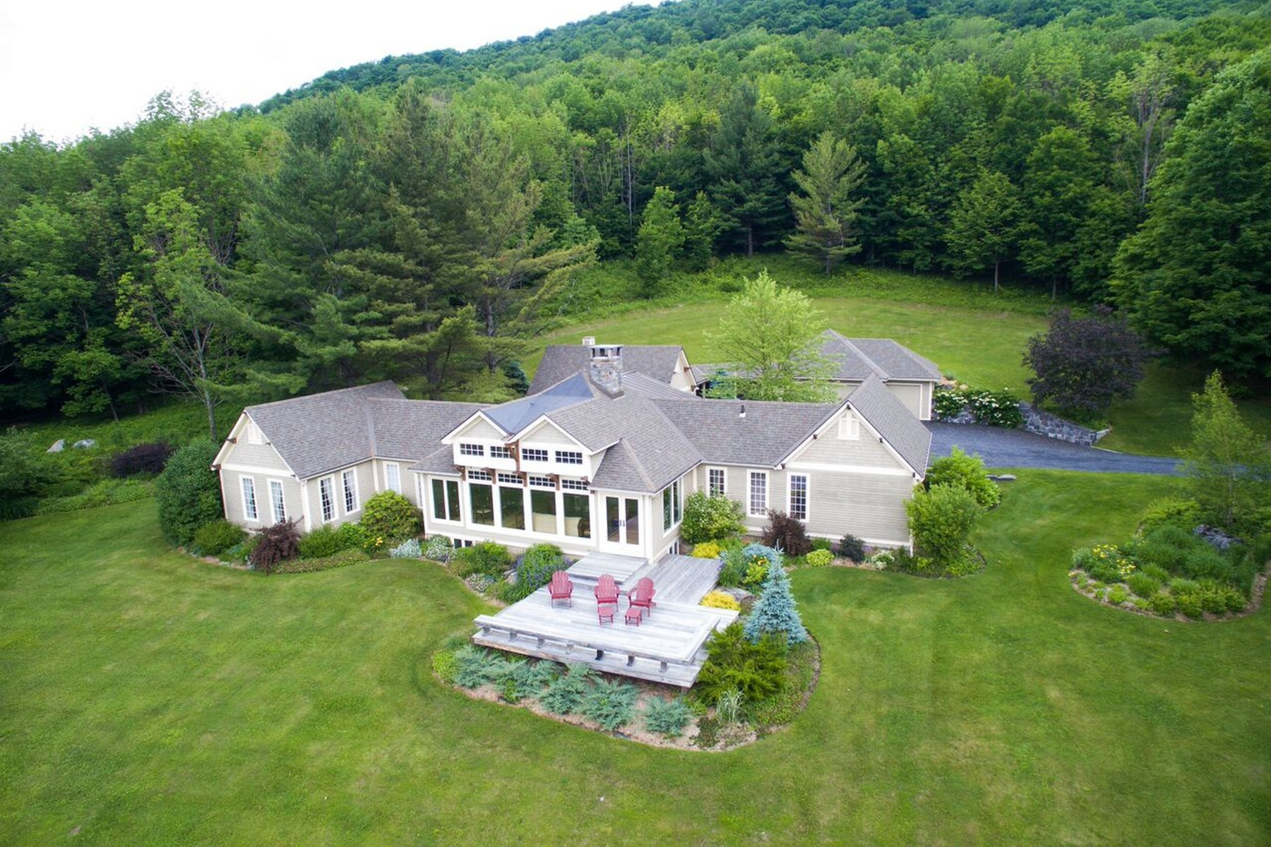 Single Family Home for Sale at Private Estate with Views 395 Red Tail Lane Dorset Hollow Dorset, Vermont, 05251 United States