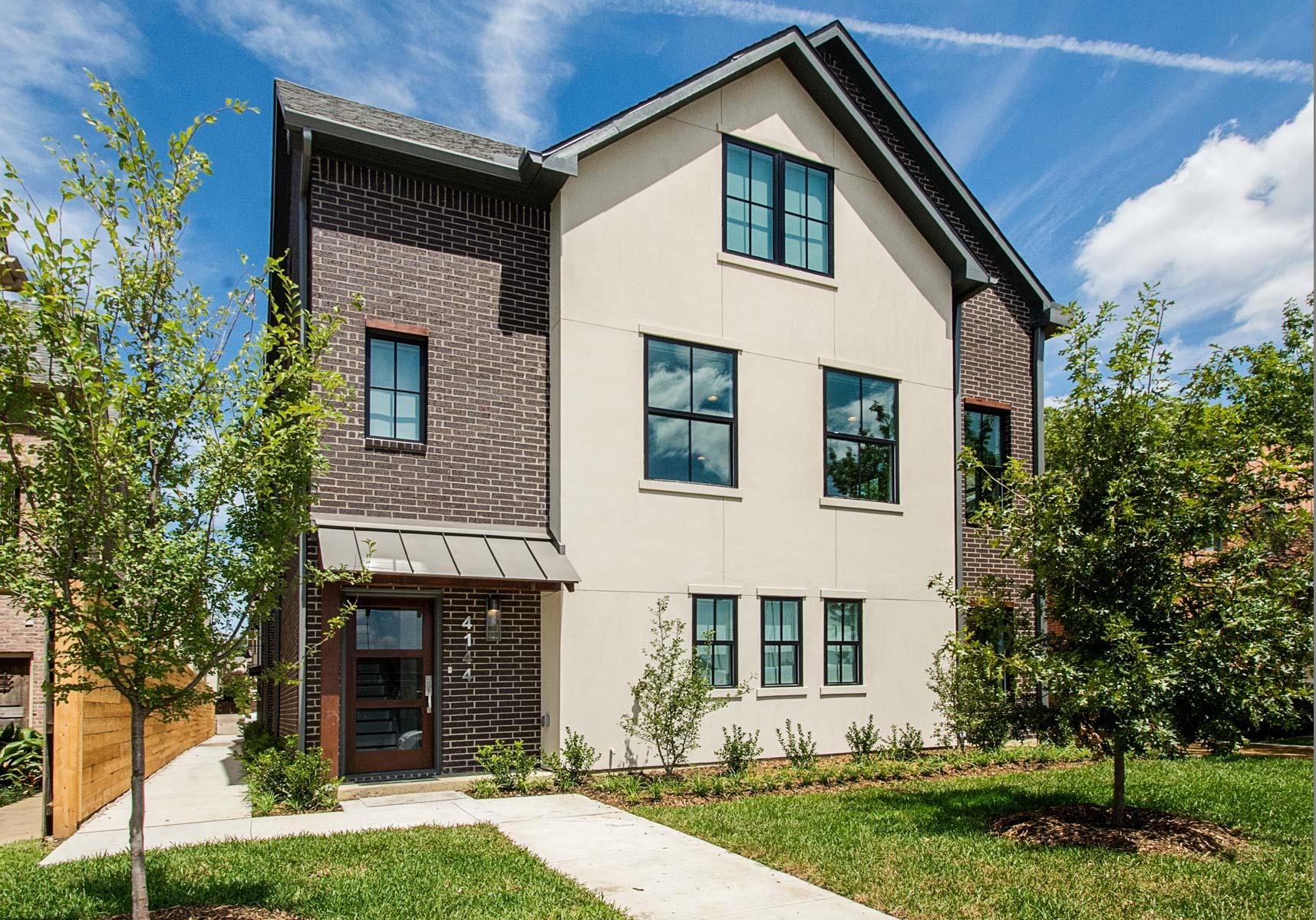 Casa para uma família para Venda às Contemporary University Park Townhomes 4144 Druid Ln 3 Dallas, Texas, 75205 Estados Unidos