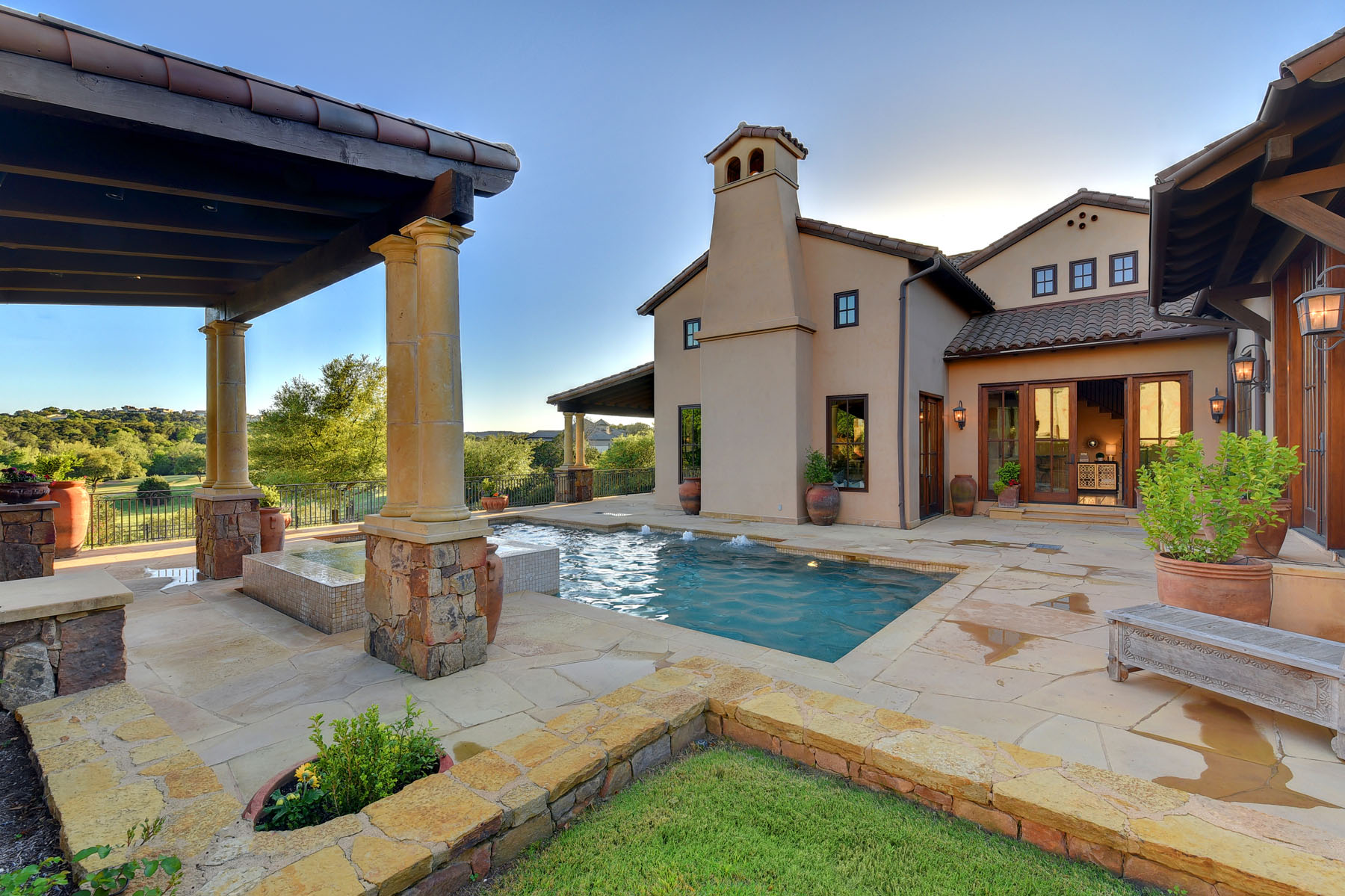 Single Family Home for Sale at Old World Elegance 8533 Calera Dr Barton Creek, Austin, Texas, 78735 United States