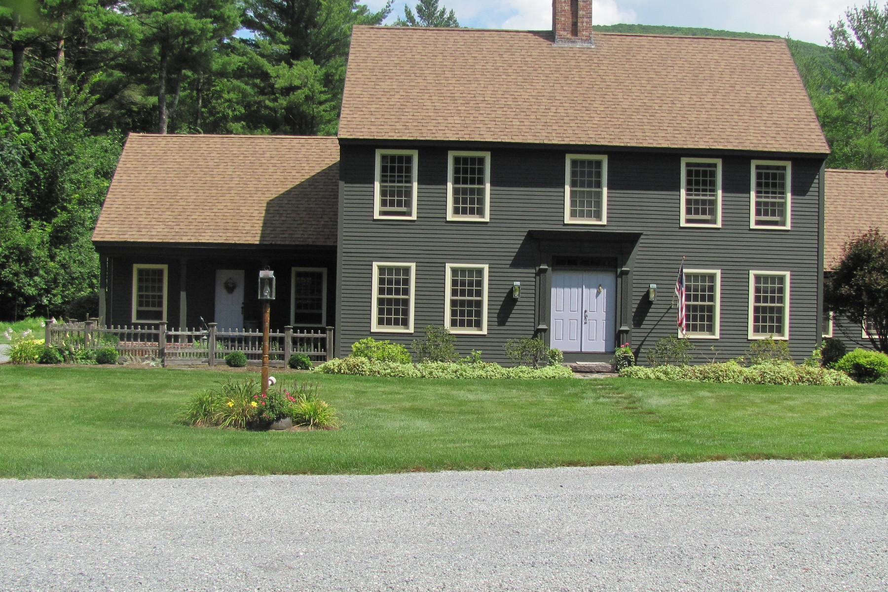 Single Family Home for Sale at Salt Box Reproduction Masterpiece 208 Black Rock Ln Dorset, Vermont, 05251 United States