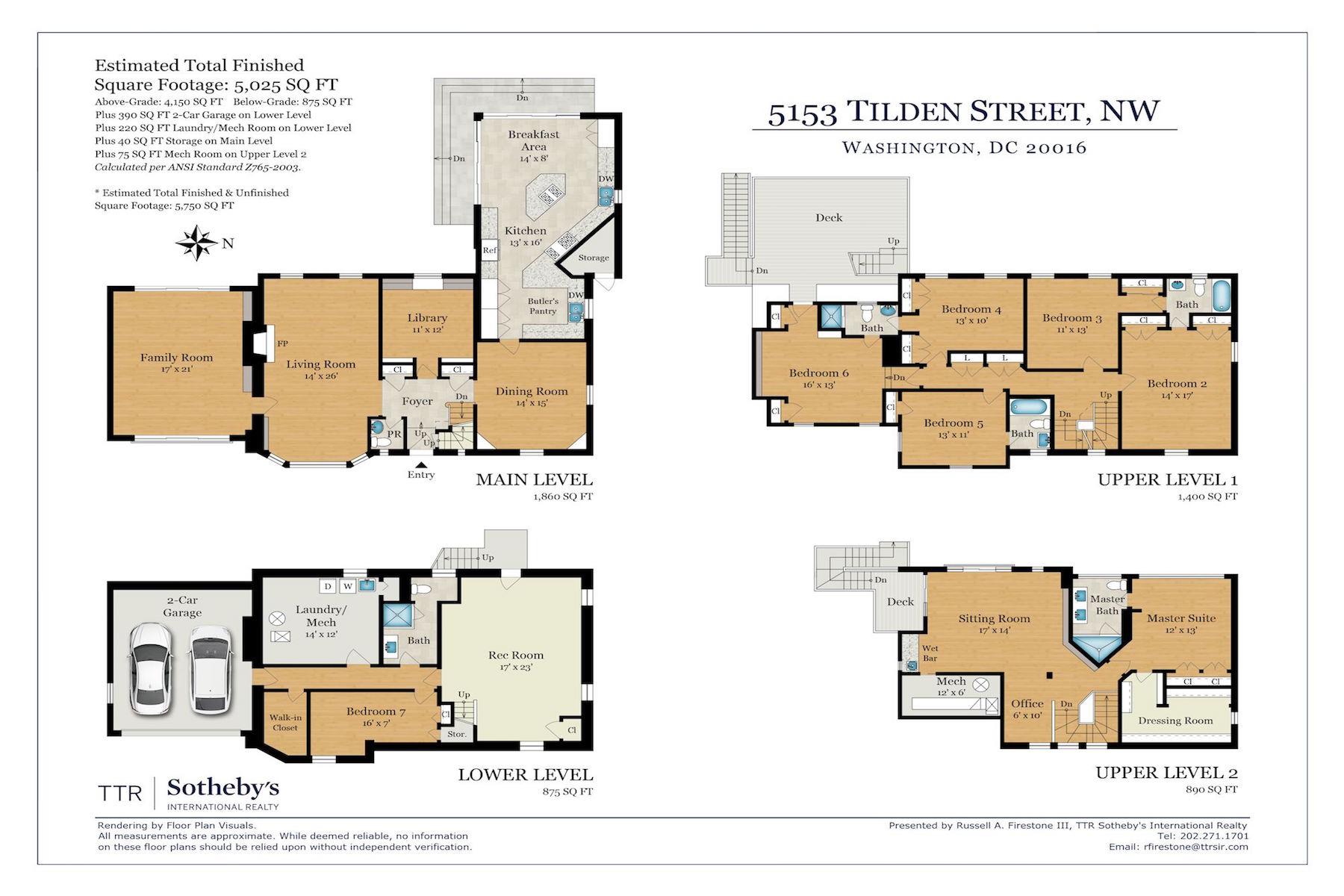 Maison unifamiliale pour l Vente à 5153 Tilden Street 5153 Tilden Street Nw Washington, District De Columbia 20016 États-Unis