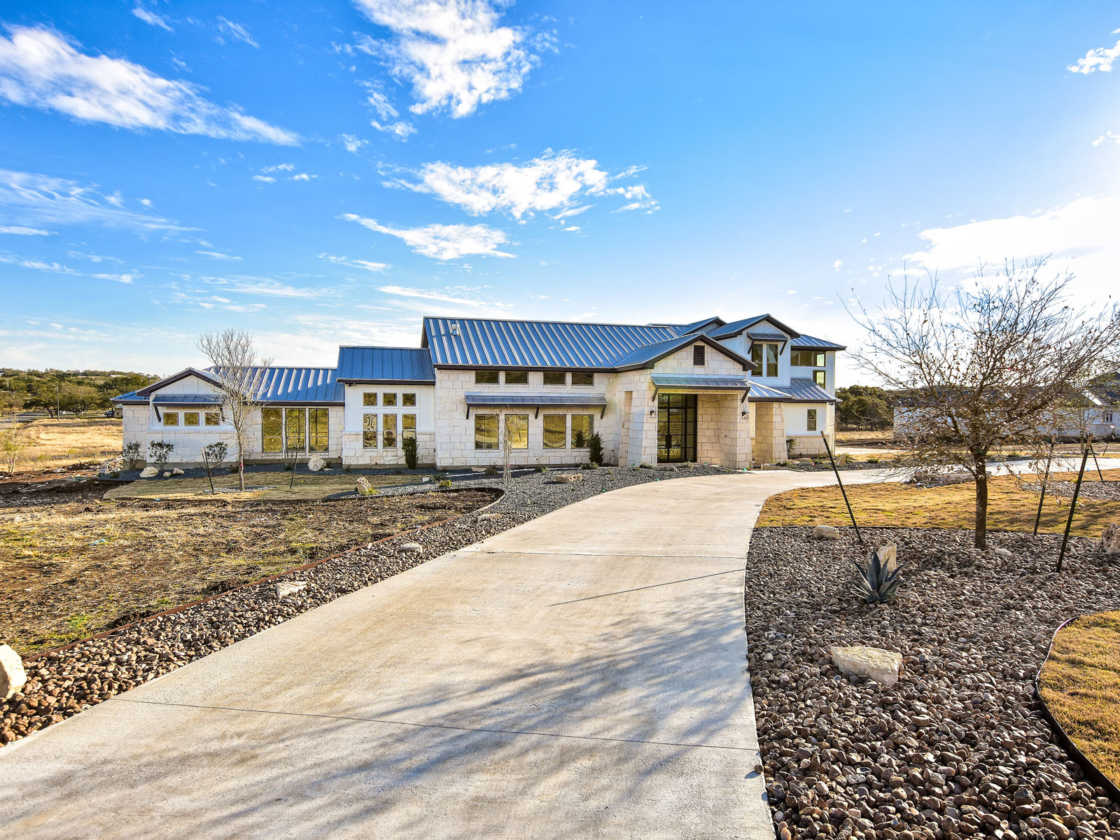 Single Family Home for Sale at Modern Style Farm House 16709 Whispering Breeze Austin, Texas, 78738 United States