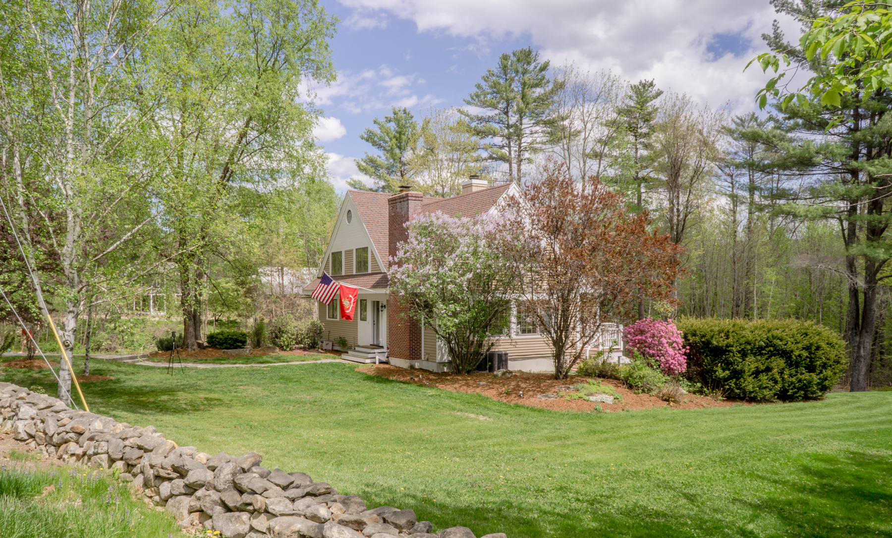 Single Family Home for Sale at French Inspired Garden Cape in Gilford 25 Gunstock Hill Rd Gilford, New Hampshire 03249 United States
