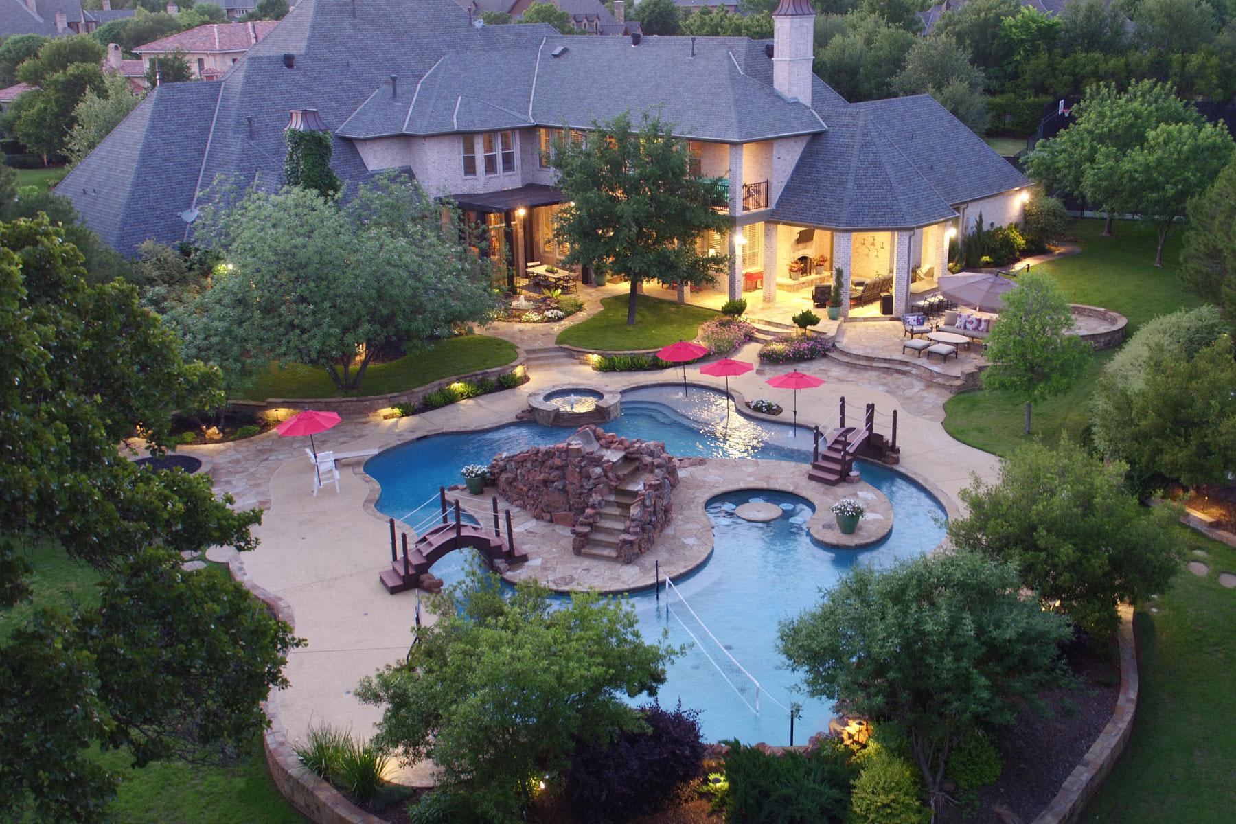 Maison unifamiliale pour l Vente à 2 ACRE ESTATE WITH RESORT-LIKE POOL 1833 Broken Bend Dr Westlake, Texas, 76262 États-Unis