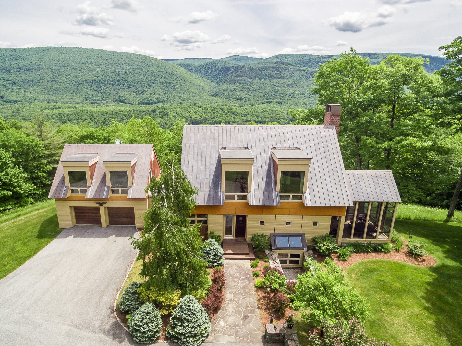 Single Family Home for Sale at Custom Contemporary with 23 Acres and Views 655 Upper Squirrel Hollow Rd Dorset, Vermont, 05253 United States