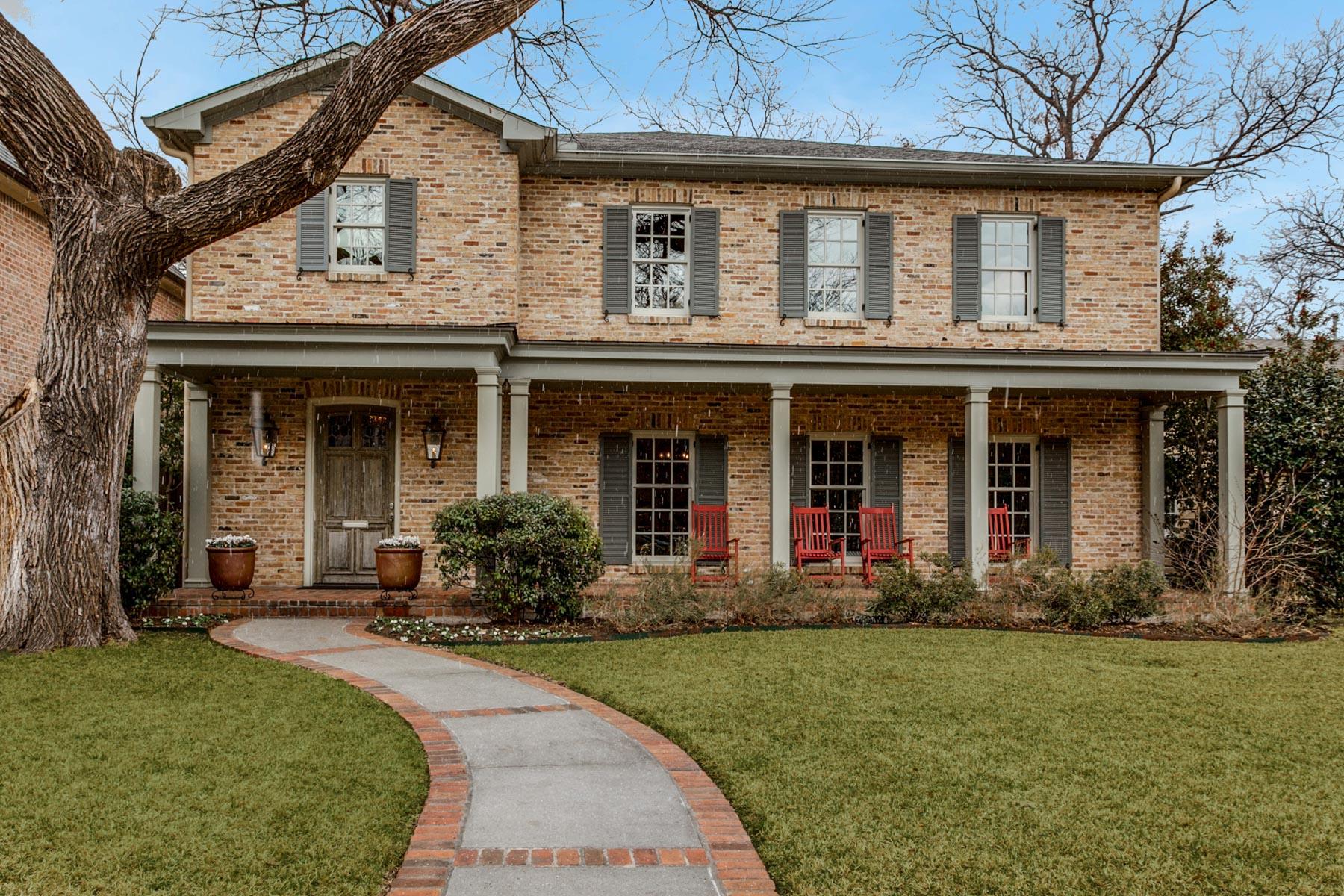 Maison unifamiliale pour l Vente à 4408 Caruth Avenue, Dallas Dallas, Texas, 75225 États-Unis