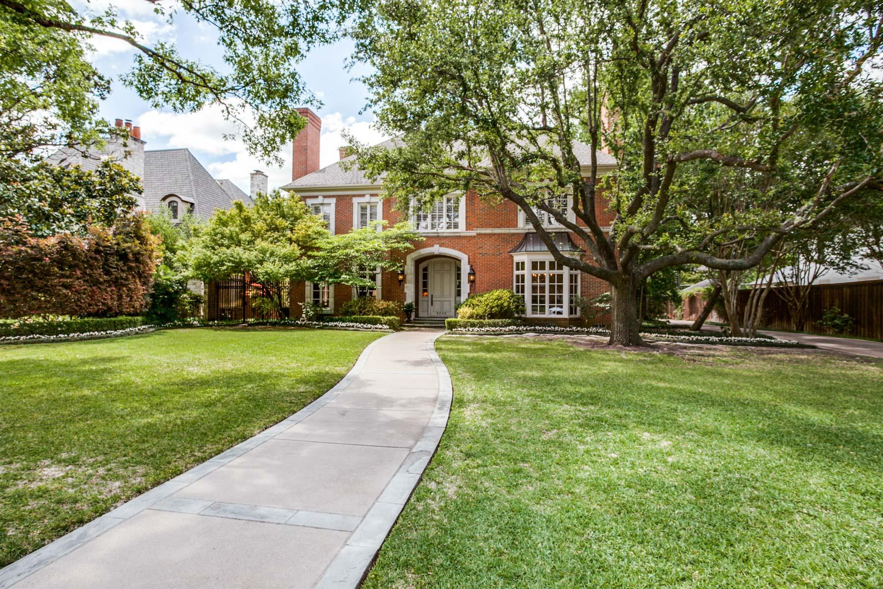 独户住宅 为 销售 在 6206 Woodland Dr, Dallas 达拉斯, 得克萨斯州, 75225 美国