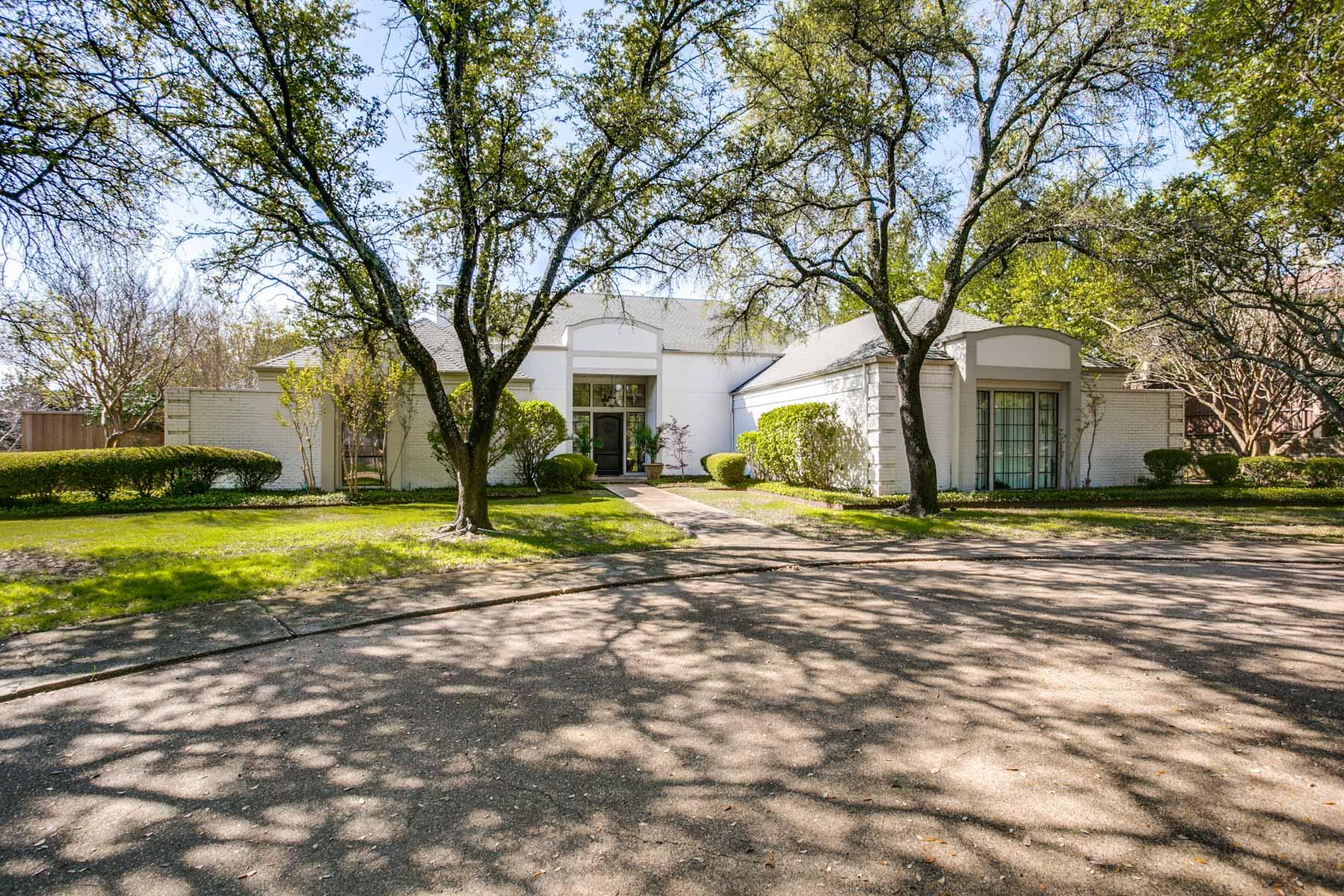 Частный односемейный дом для того Продажа на French Inspired Home on .85 of an Acre 6818 Churchill Way Dallas, Техас, 75230 Соединенные Штаты