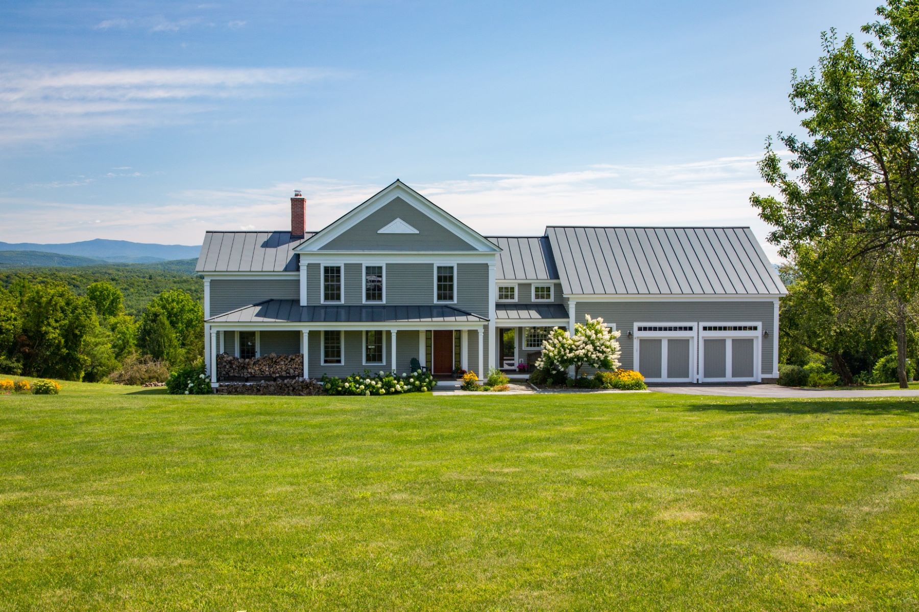 Single Family Home for Sale at Custom Greek Revival Farmhouse 199 Inn Rd Charlotte, Vermont, 05445 United States