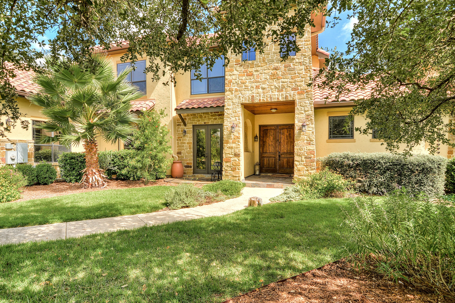 Single Family Home for Sale at Fabulous Mediterranean Home in Menger Springs 108 Cabin Springs Boerne, Texas 78006 United States