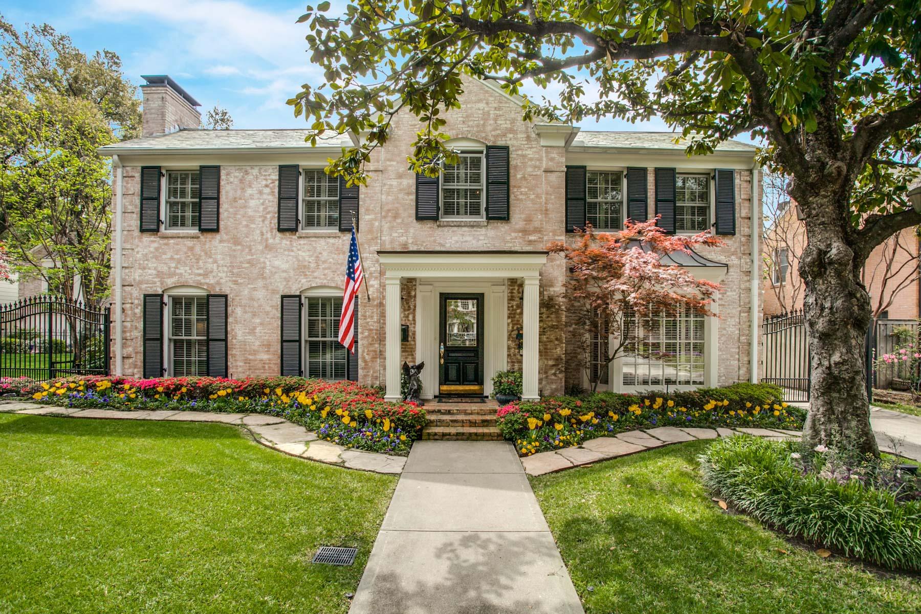 Частный односемейный дом для того Продажа на 4417 Belclaire Avenue, Highland Park Highland Park, Техас, 75205 Соединенные Штаты