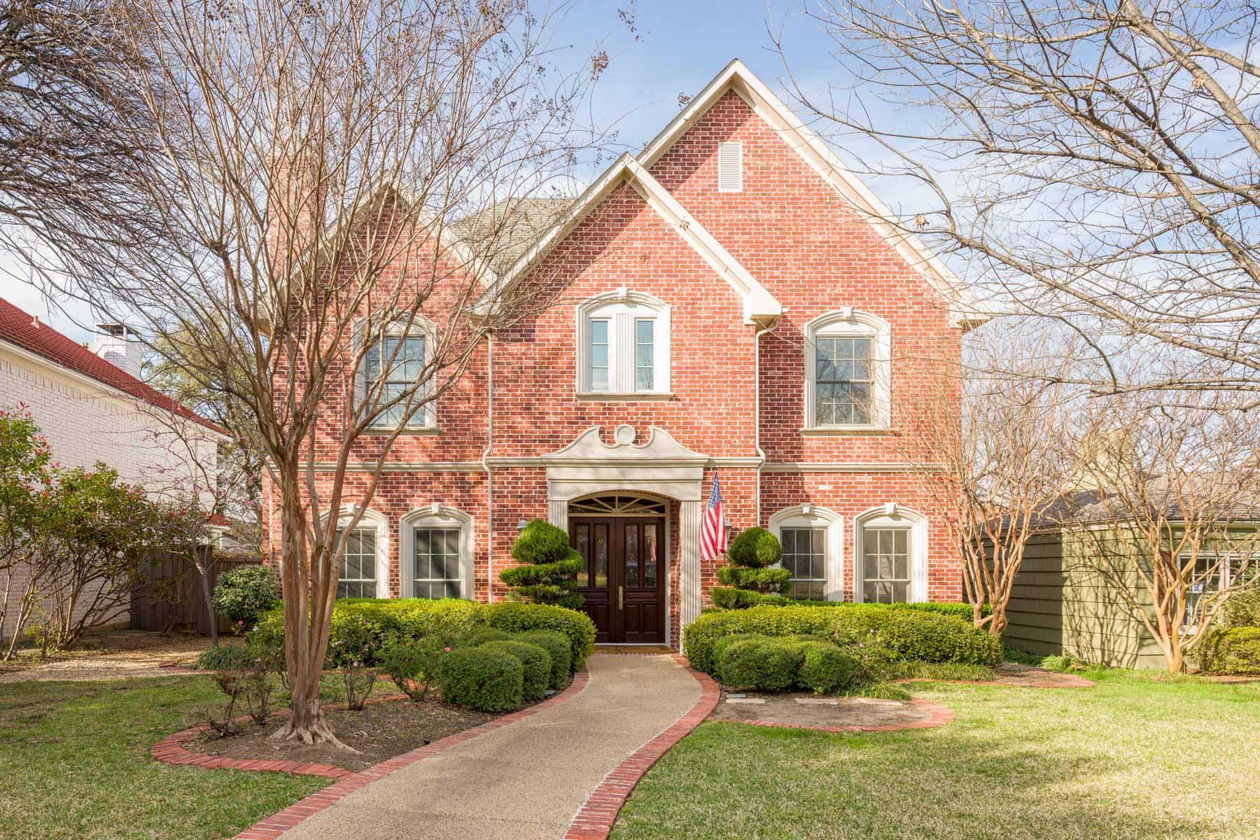 Maison unifamiliale pour l Vente à University Park Traditional 3020 Westminster Ave Dallas, Texas, 75205 États-Unis